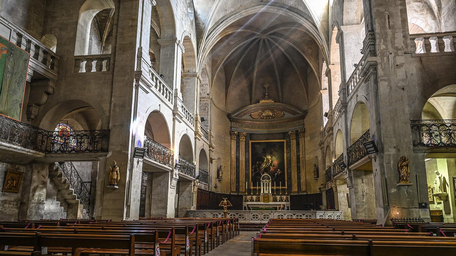 Das Innere der Kathedrale Saint-Théodorit. Foto: Hilke Maunder