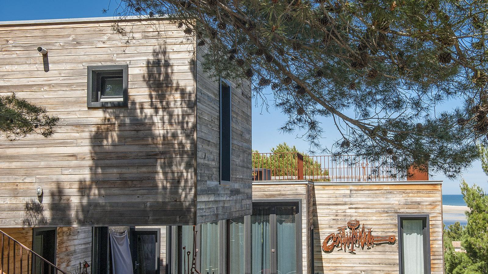 La Franqui: Die Villa von Nathalie und Patrick Chappert-Gaujal in La Franqui. Foto: Hilke Maunder