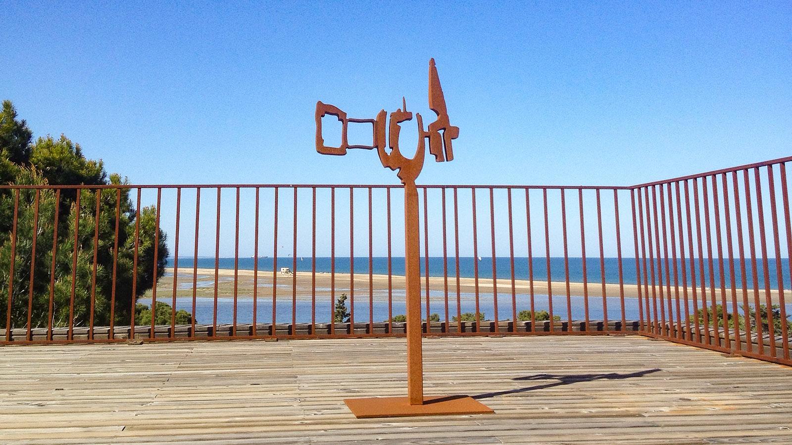 La Franqui: Skulptur von Patrick Chappert-Gaujal. Foto: Hilke Maunder