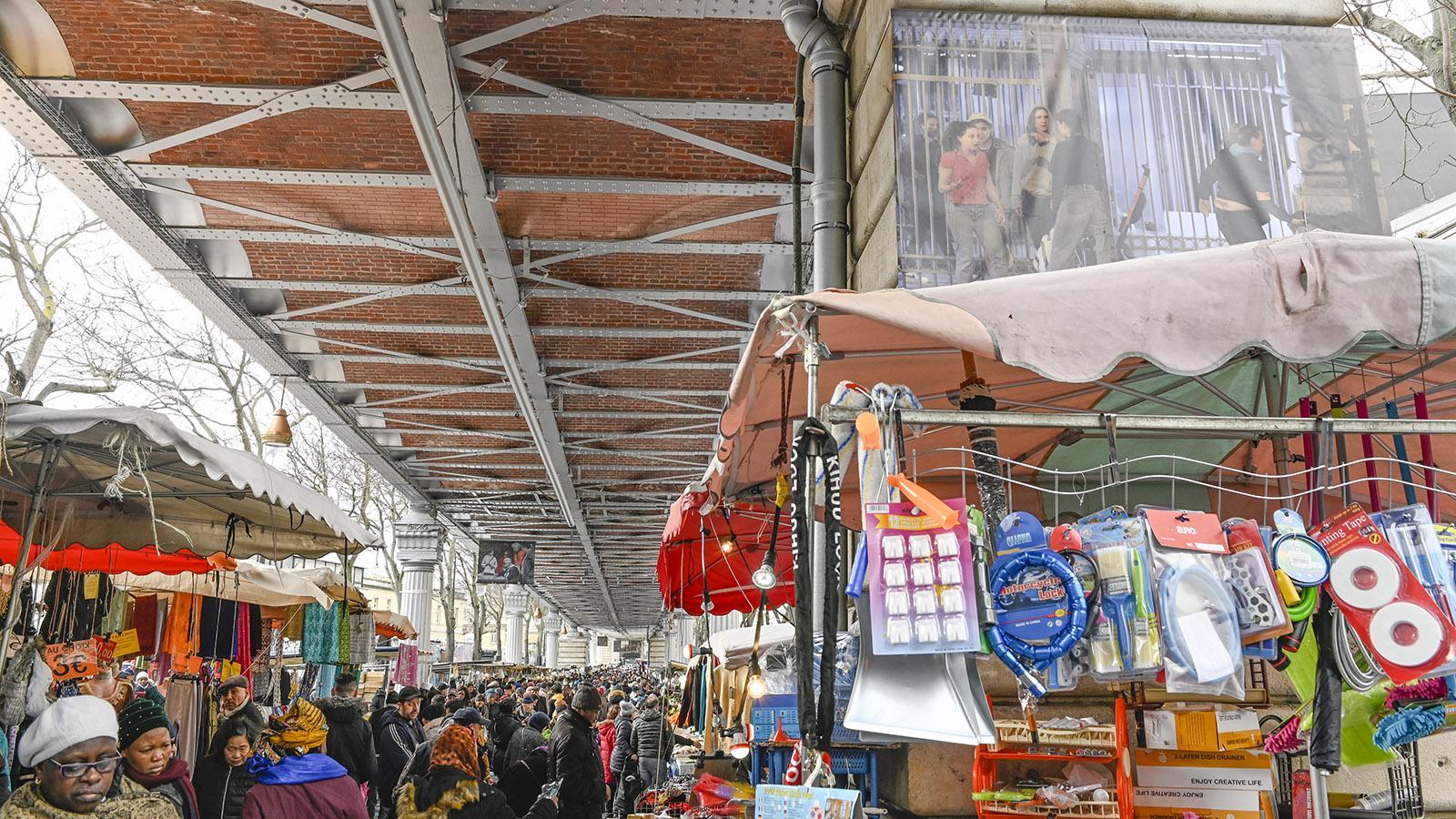 Der Straßenmarkt von Goutte d'Or. Foto: Hilke Maunder
