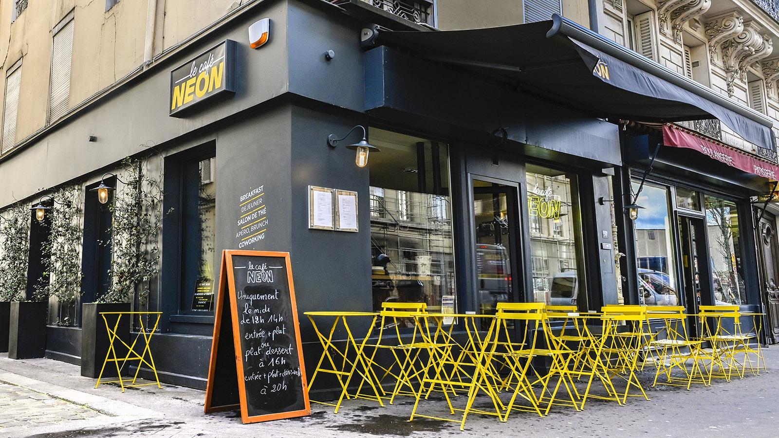 Neon, eines der neuen trendigen Cafés von Goutte d'Or. Foto: Hilke Maunder