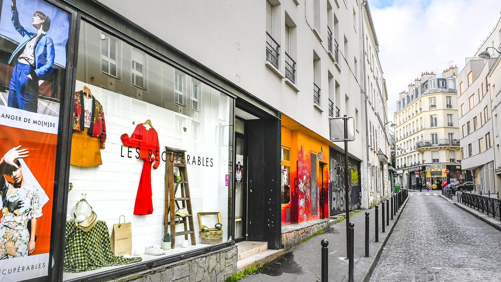 Die Gentrifizierung macht auch vor Goutte d'Or nicht halt, zeigt dieses stylische Second-Hand-Geschäft. Foto: Hilke Maunder