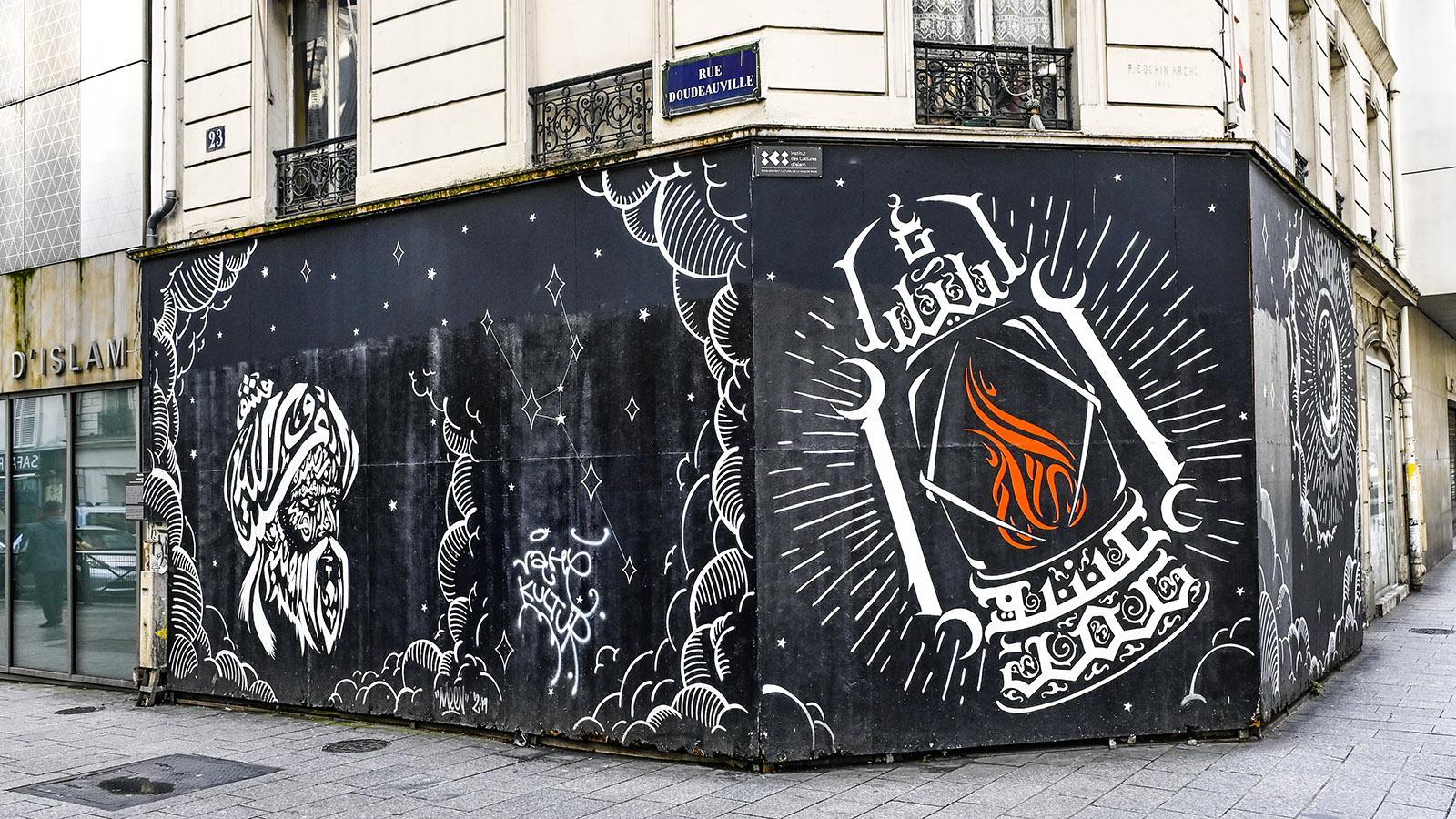 Street Art am Islamischen Zentrum von Goutte d'Or. Foto: Hilke Maunder