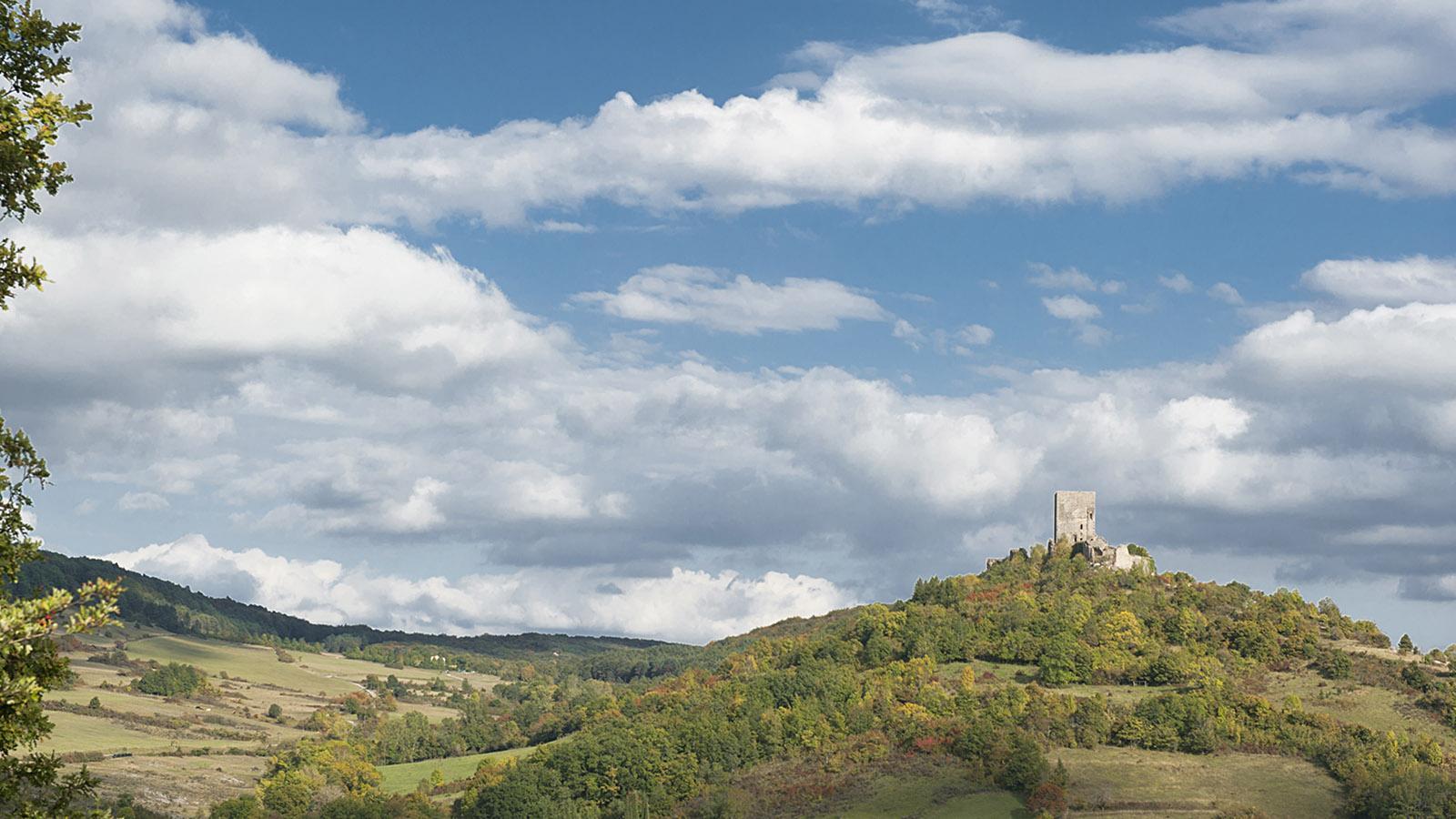 Die Landschaft bei der Katharer-Burg Puivert. Foto: Hilke Maunder
