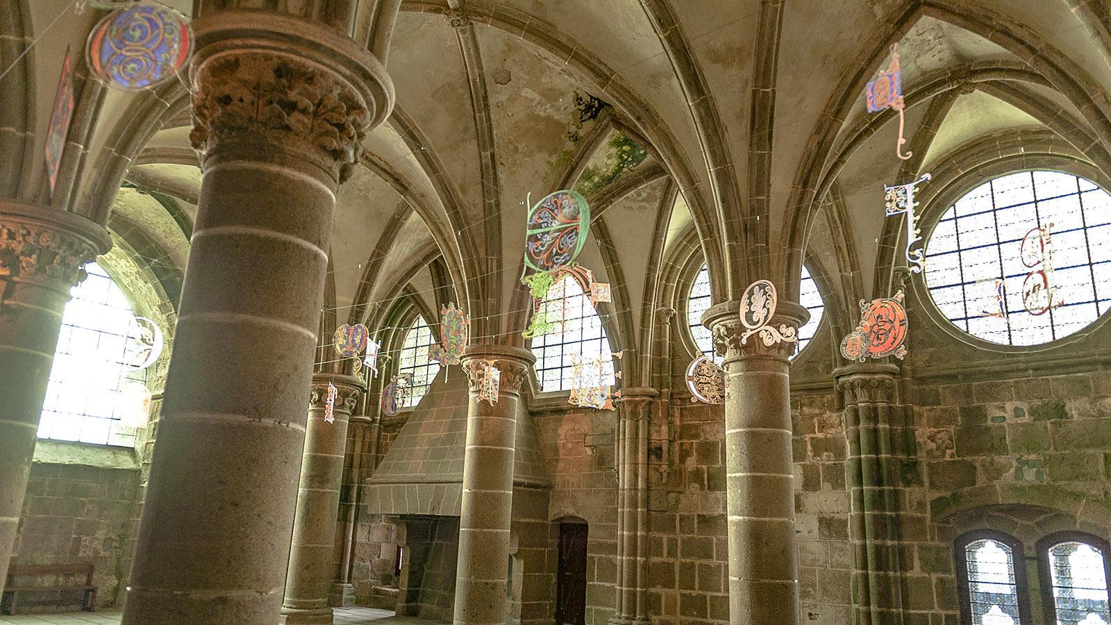 Nocturnes in der Abtei des Mont-Saint-Michel. Foto: Hilke Maunder