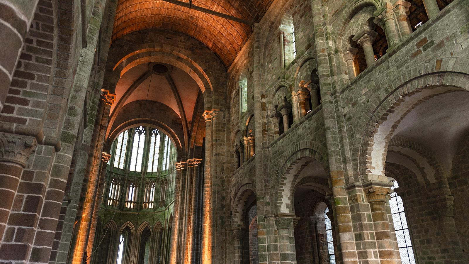 Die Abteikirche des Mont-Saint-Michel. Foto: Hilke Maunder