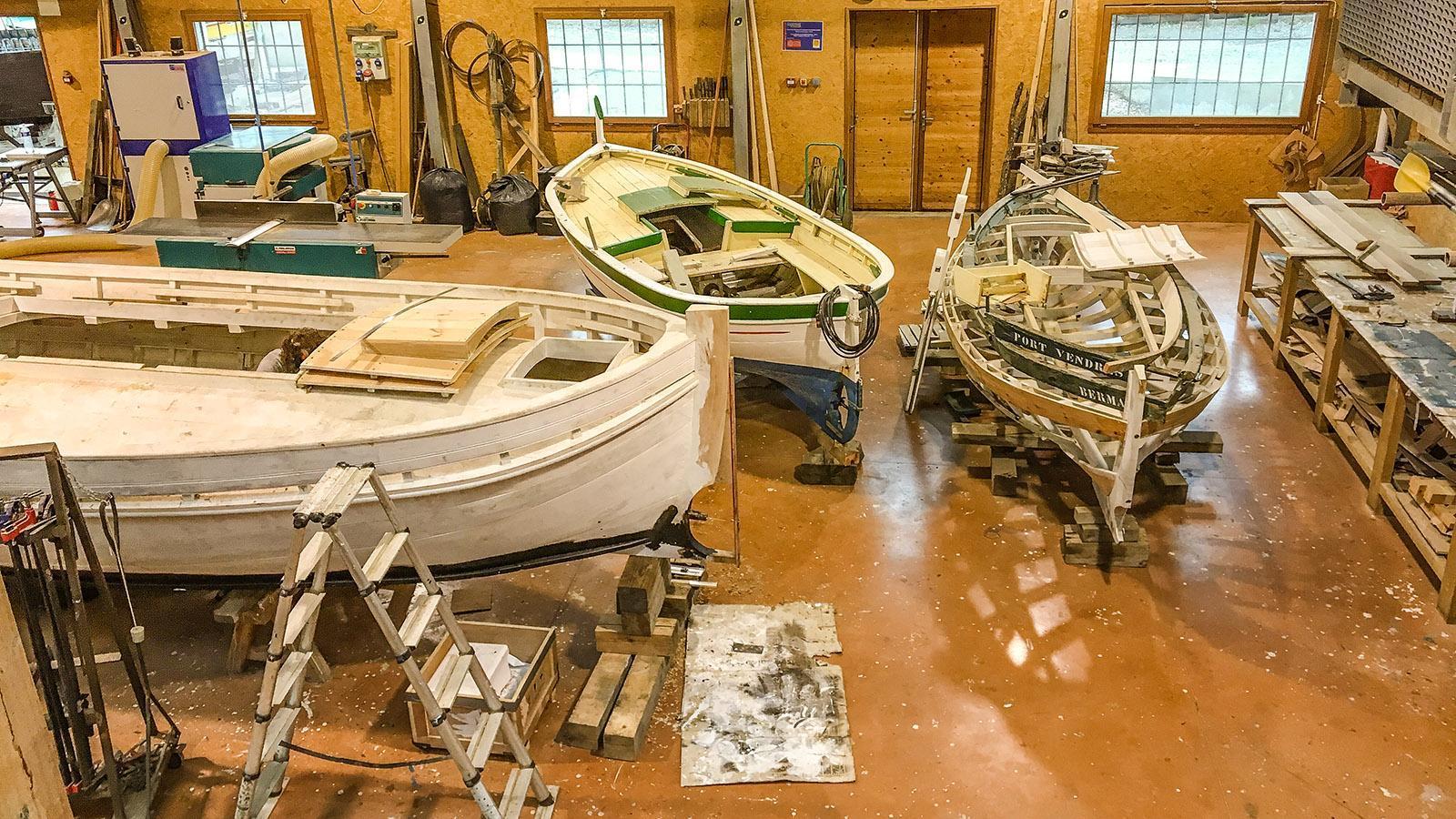 Paulilles: die Werkstatt der Bootsbauer. Foto: Hilke Maunder