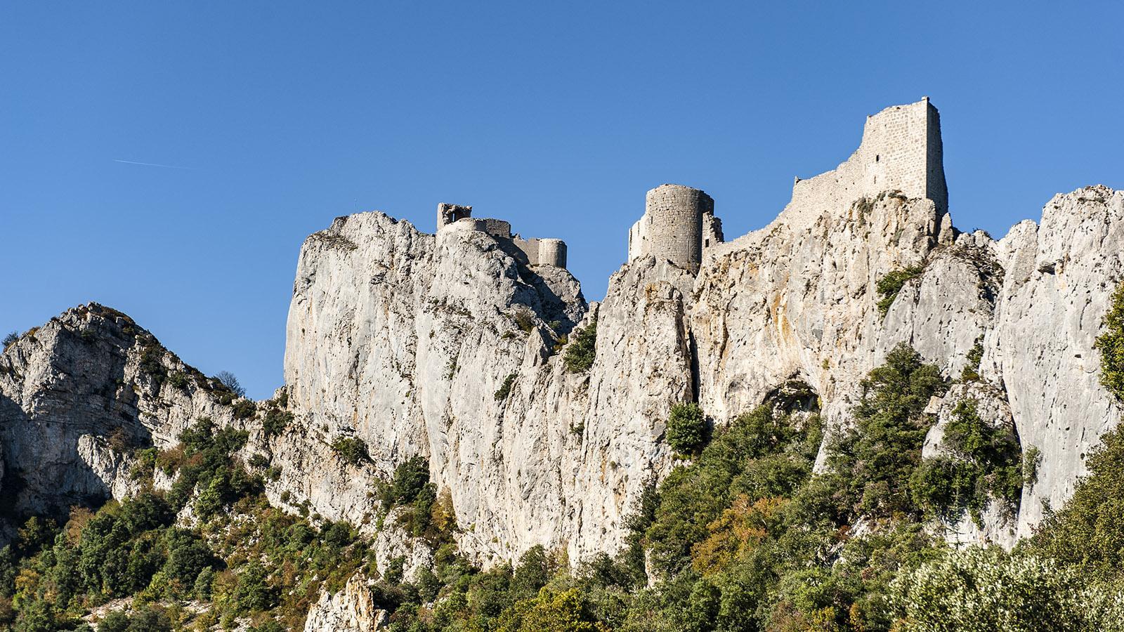 Sentier Cathare: Château de Peyrepertuse. Foto: Hilke Maunder
