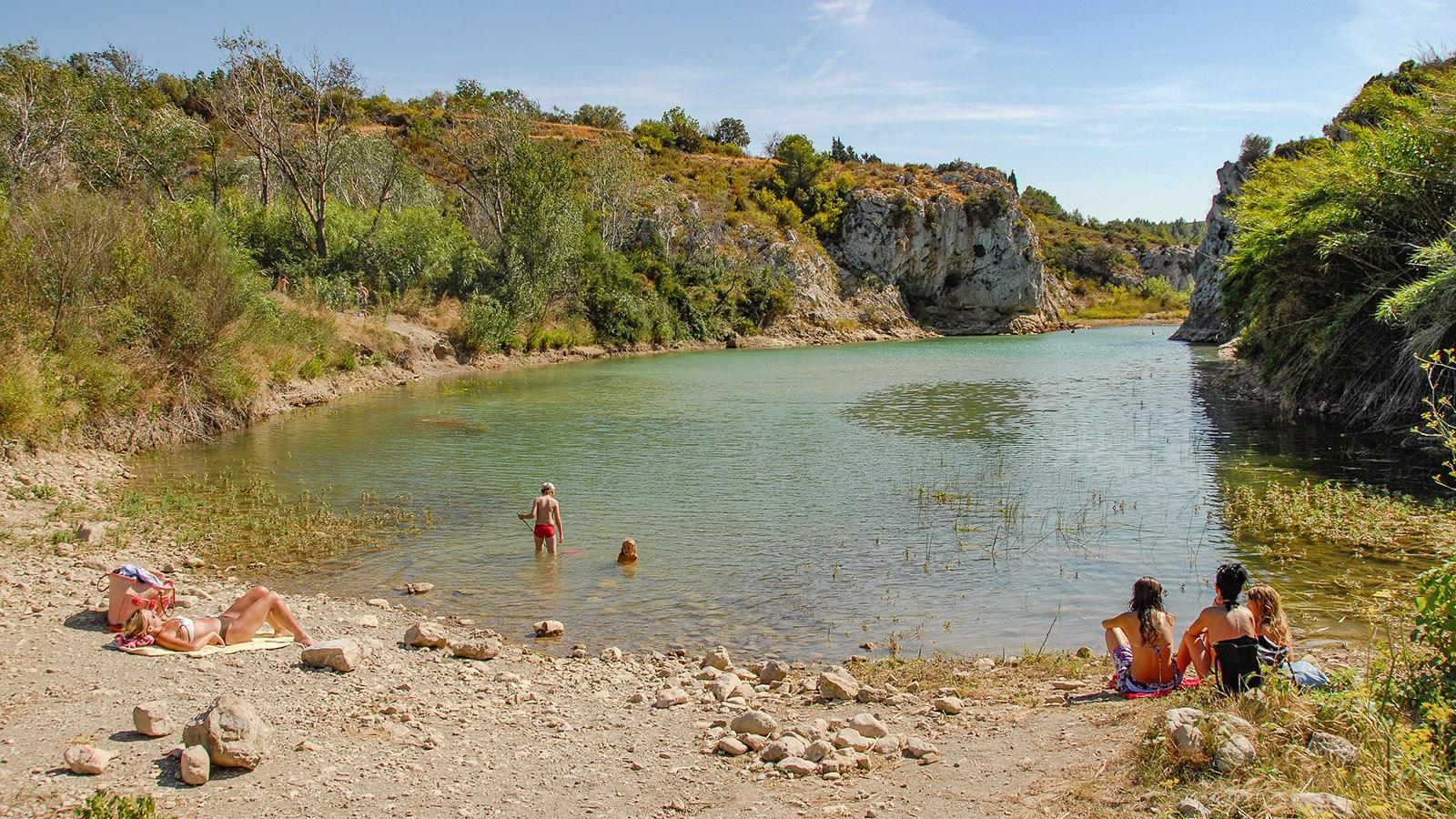 Am Sentier Cathare: die Badebucht der Berre in Portel. Foto: Hilke Maunder