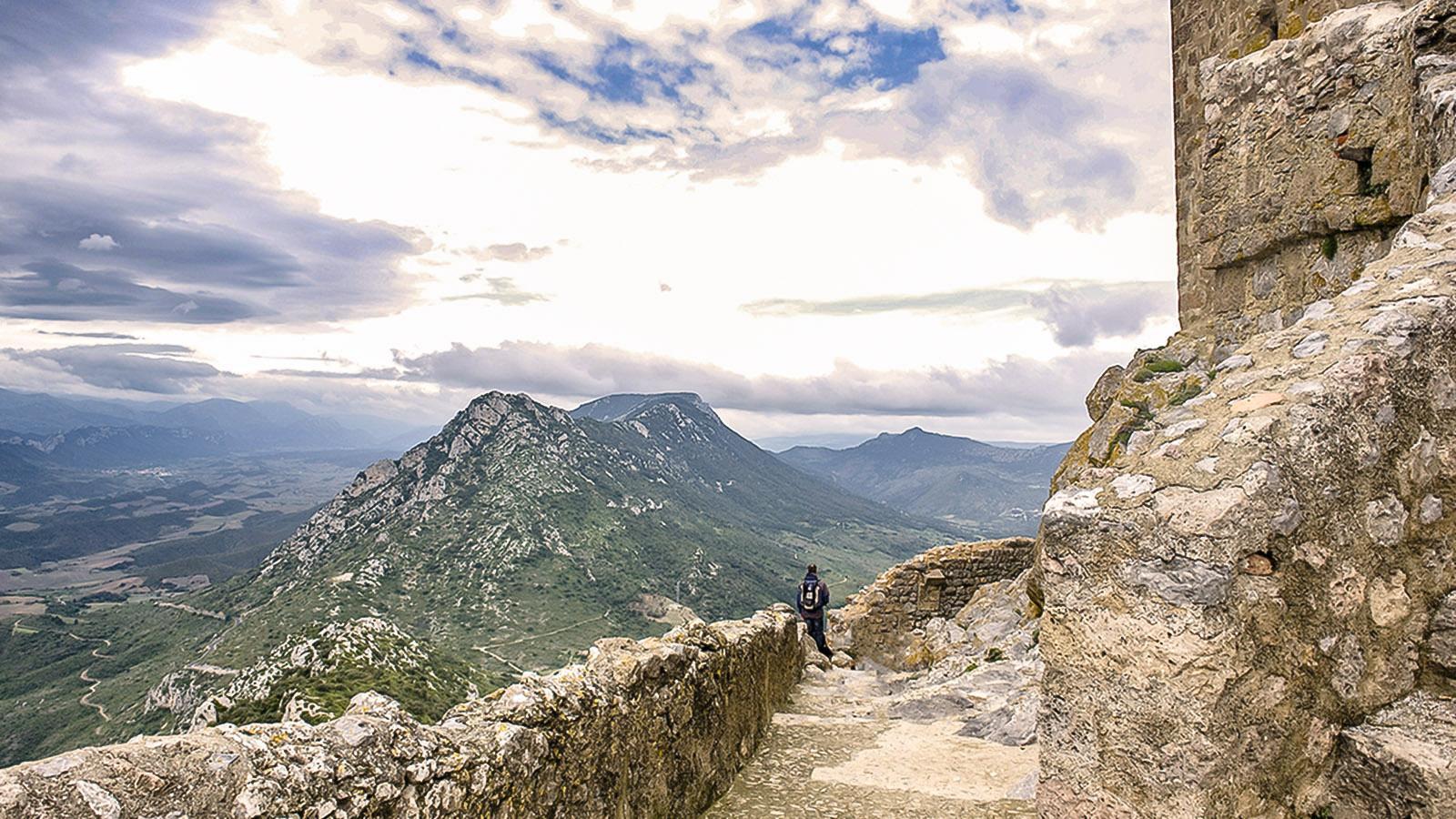 Die Katharer-Burg von Quéribus. Foto: Hilke Maunder