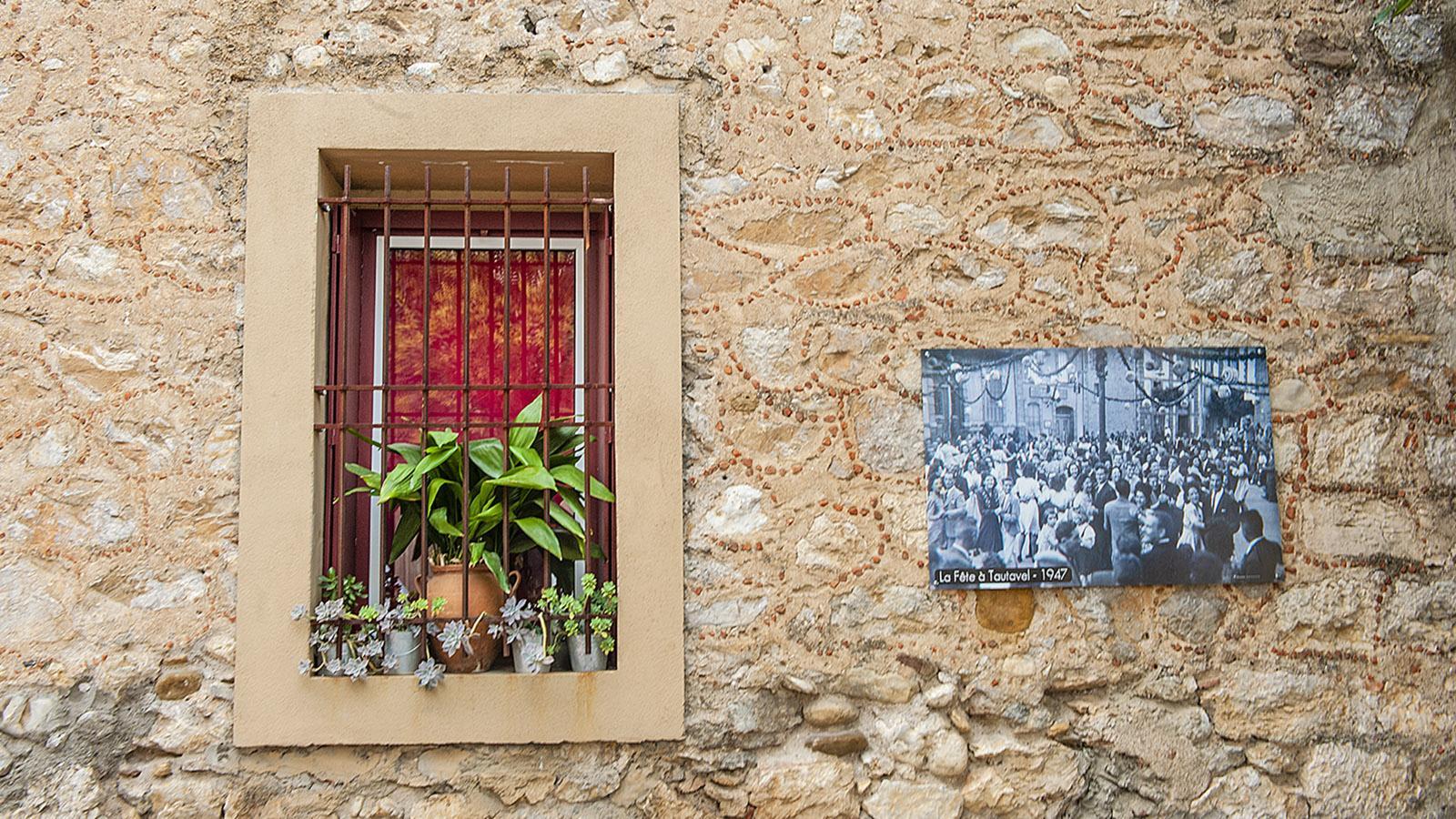In Tautavel erzählen auch die Fassaden Geschichten. Foto: Hilke Maunder