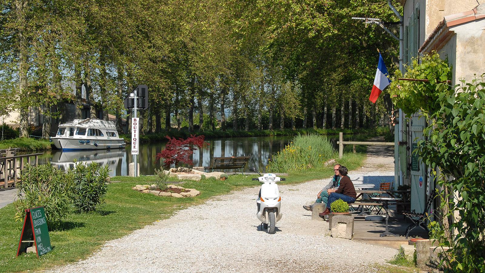 Radwandern am Canal du Midi. Foto: Hilke Maunder