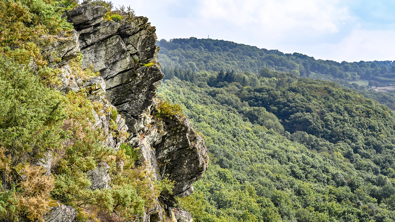 La face humaine - eine Felsformation der Roche d'Oëtre. Foto: Hilke Maunder