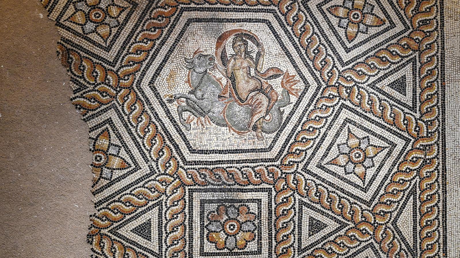 Nîmes: Musée de la Romanité, Mosaik. Foto: Hilke Maunder