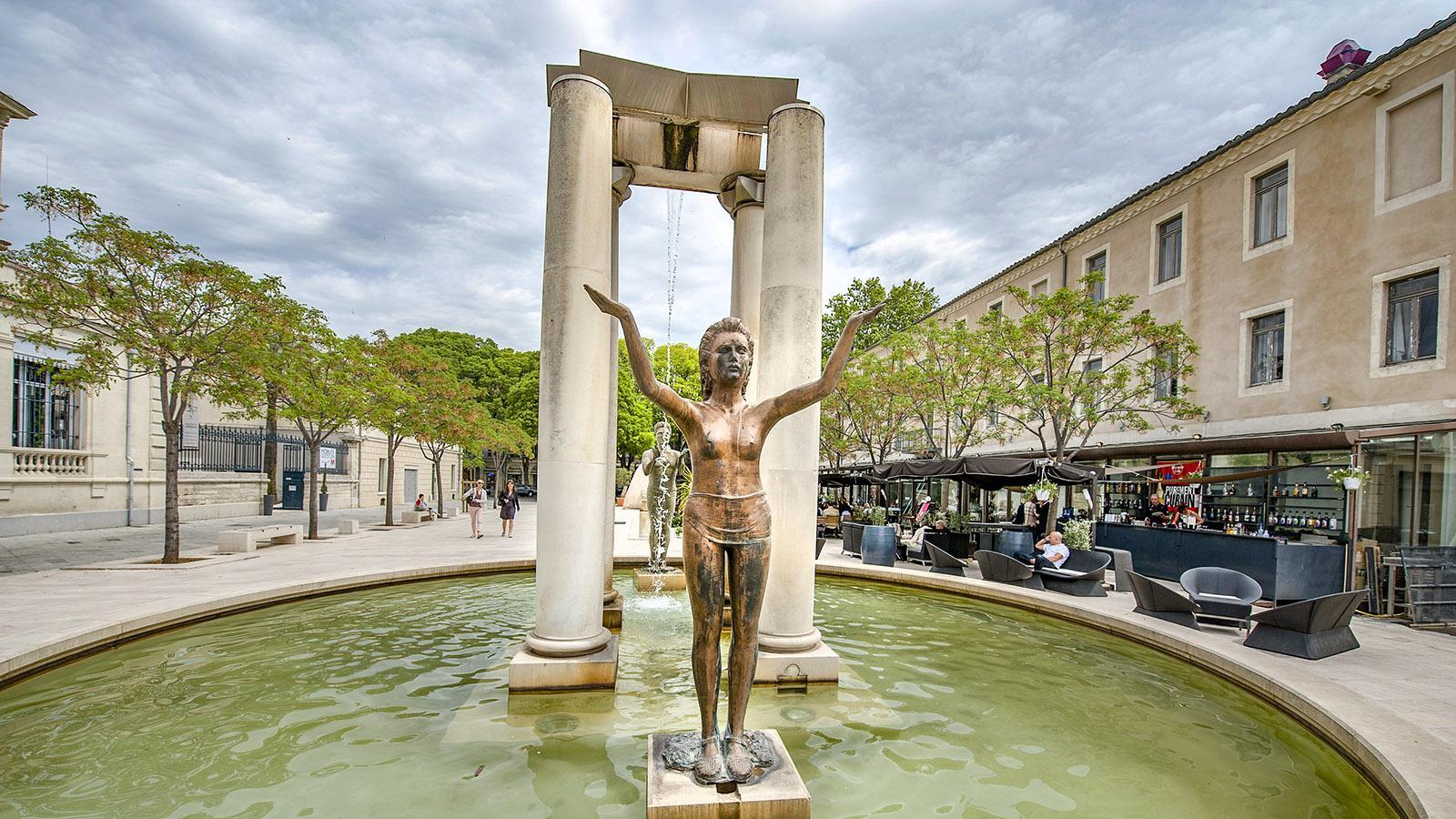 Nîmes: die Place d'Assas. Foto: Hilke Maunder