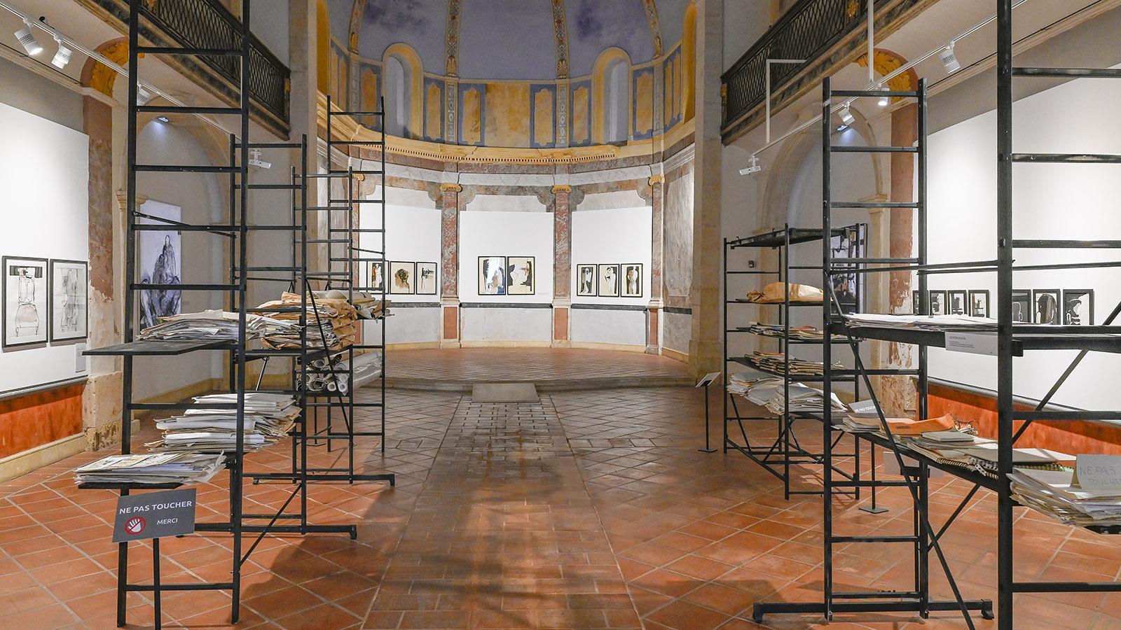Die Griggio-Ausstellung in der Kapelle der Blaubüßer. Foto: Hilke Maunder