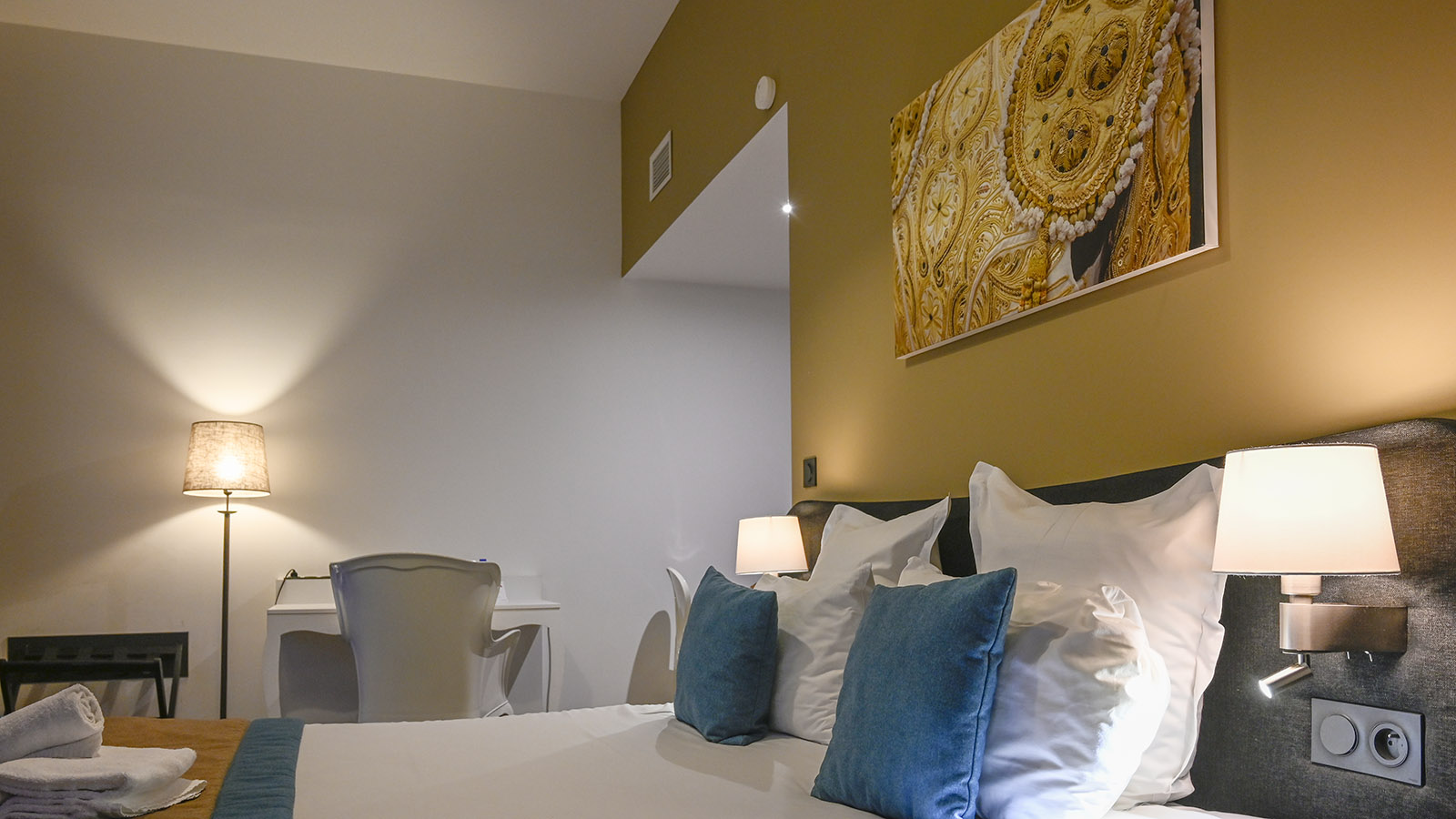 Das Zimmer 207 im Appart'City Confort Arènes. Foto: Hilke Maunder