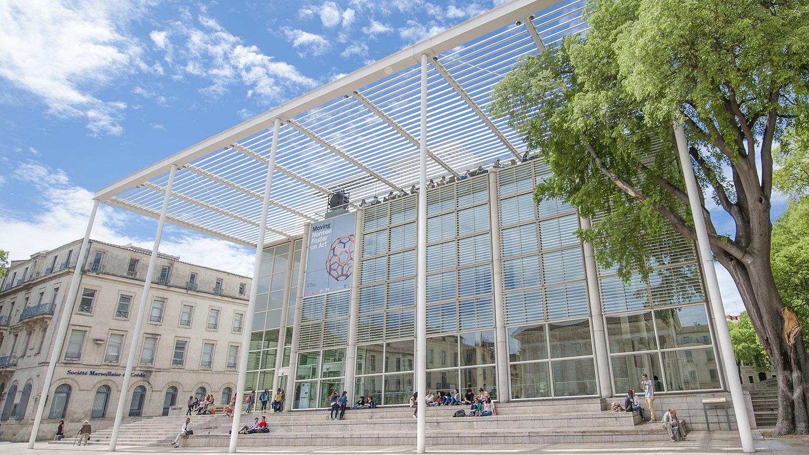 Die Glasfront des Carré d'Art. Foto: Hilke Maunder