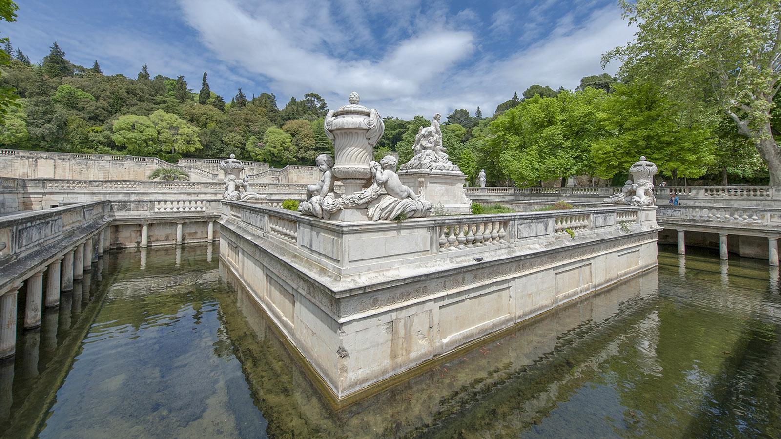 Die Jardins de la Fontaine von Nîmes. Foto: Hilke Maunder