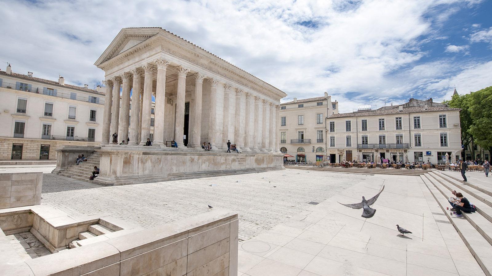 Die Maison Carée von Nîmes. Foto. Hilke Maunder