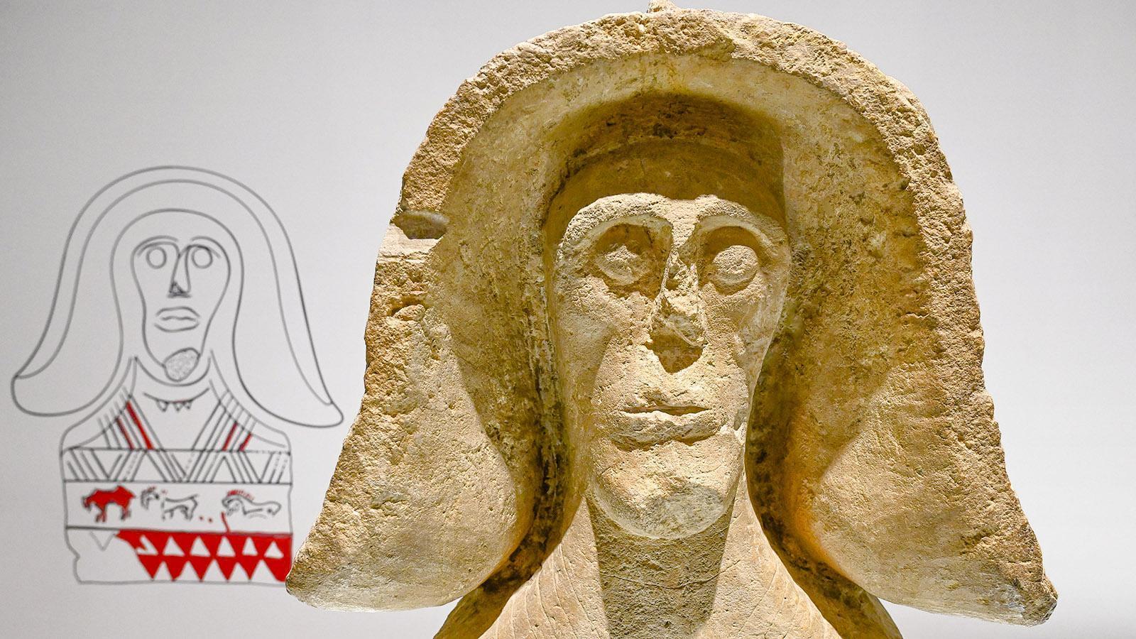 Die Skulptur stammt aus der gallischen Zeit. Foto: Hilke Maunder