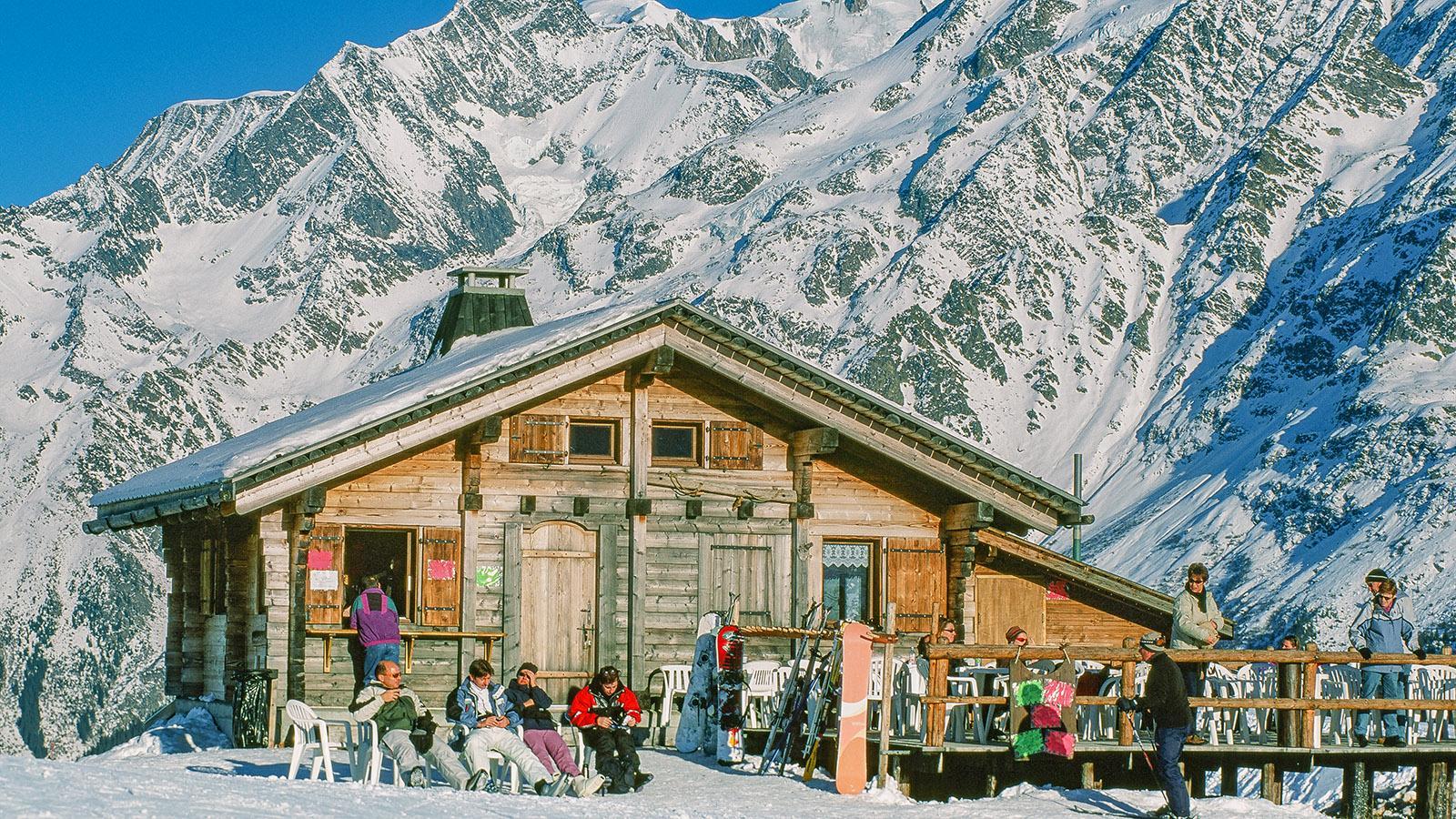 Les Contamines-Montjoie: Berghütte im Skigebiet. Foto: Hilke Maunder