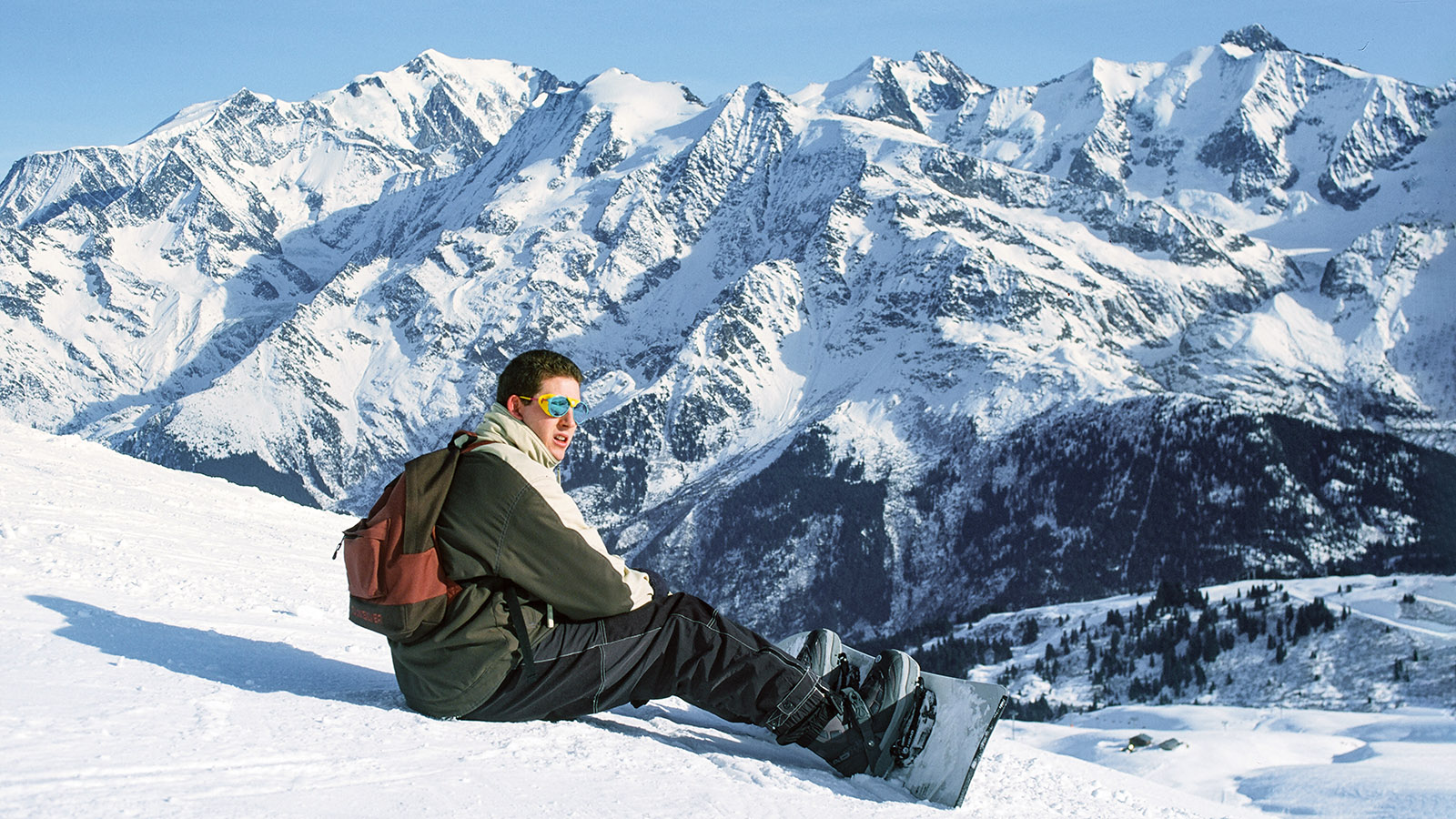 Les Contamines-Montjoie: Abfahrt mit Blick auf Mont Blanc. Foto: Hilke Maunder