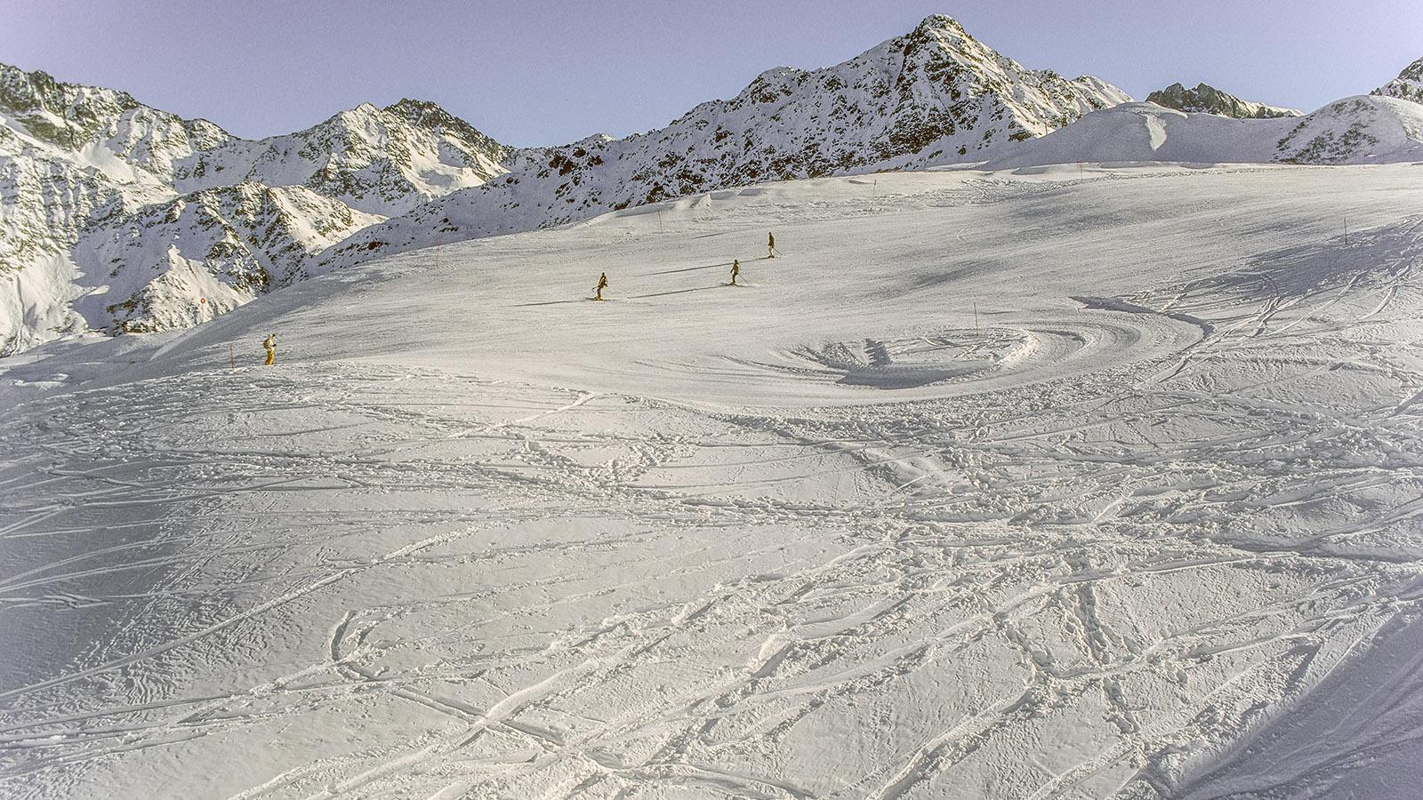 Les Contamines-Montjoie, Skiegebiet. Foto: Hilke Maunder