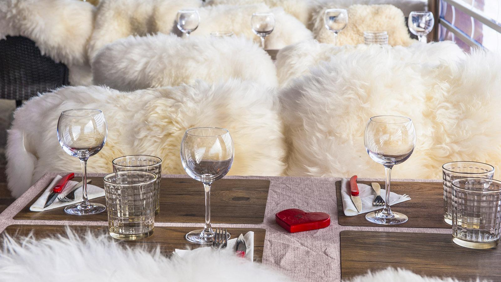 Le Grand Bornand: Höhenrestaurant Les Terres Rouges. Foto: Hilke Maunder