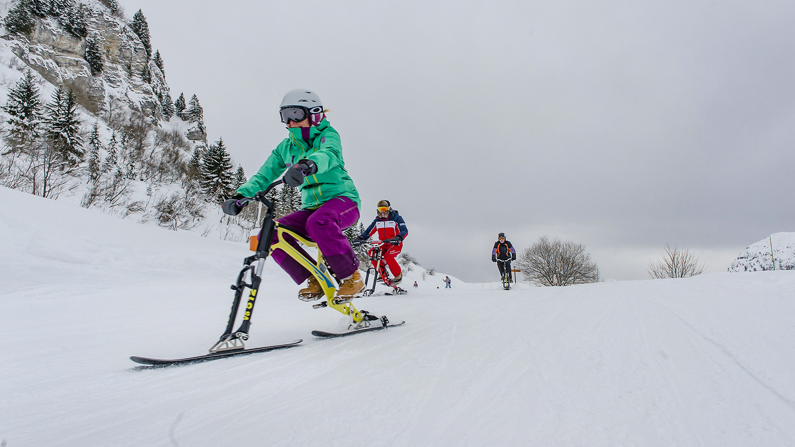 Le Grand Bornand: Unterwegs mit dem Skibike oder véloski. Foto: Hilke Maunder