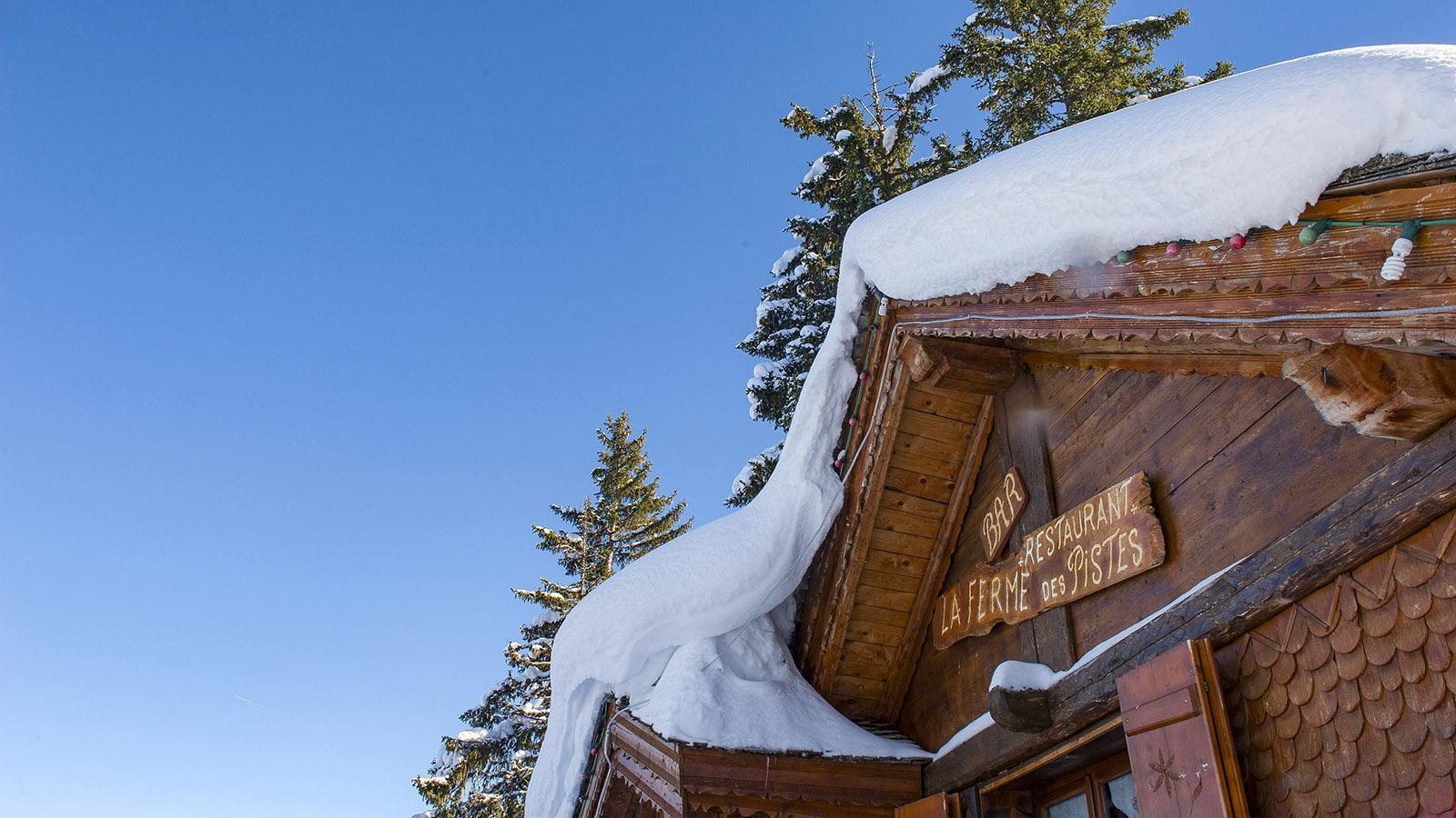 Châtel: La Ferme de la Piste - eine der urigsten Berghütten im Skigebiet! Foto: Hilke Maunder