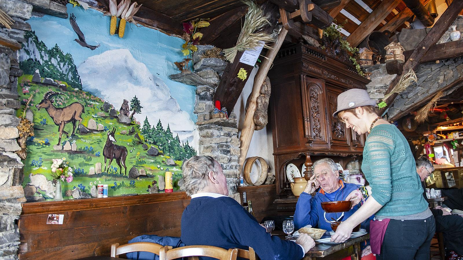 Châtel: Urig - die Berghütte Ferme des Pistes. Foto: Hilke Maunder