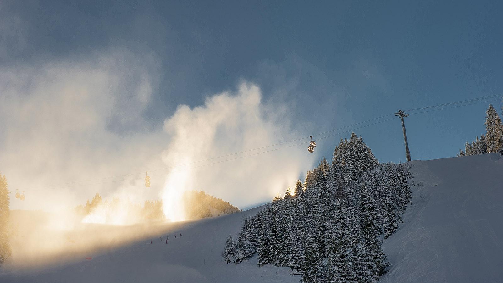 Morgens im Skigebiet von Châtel. Foto: Hilke Maunder.