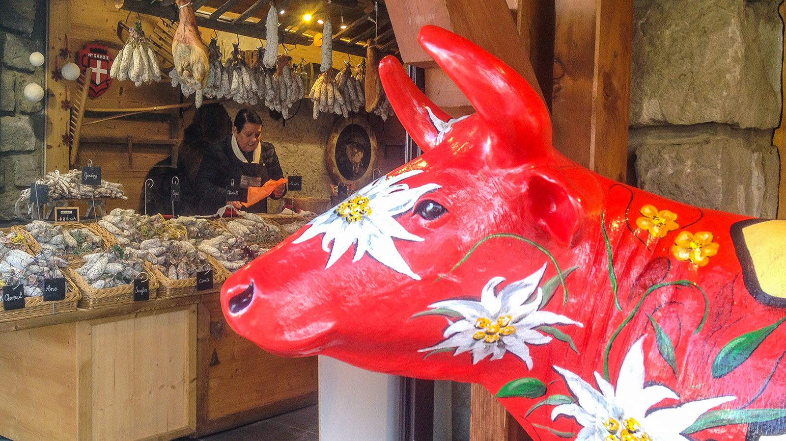 Châtel: Beste Käse- und Wurstwaren der Region gibt es bei François. Foto: Hilke Maunder