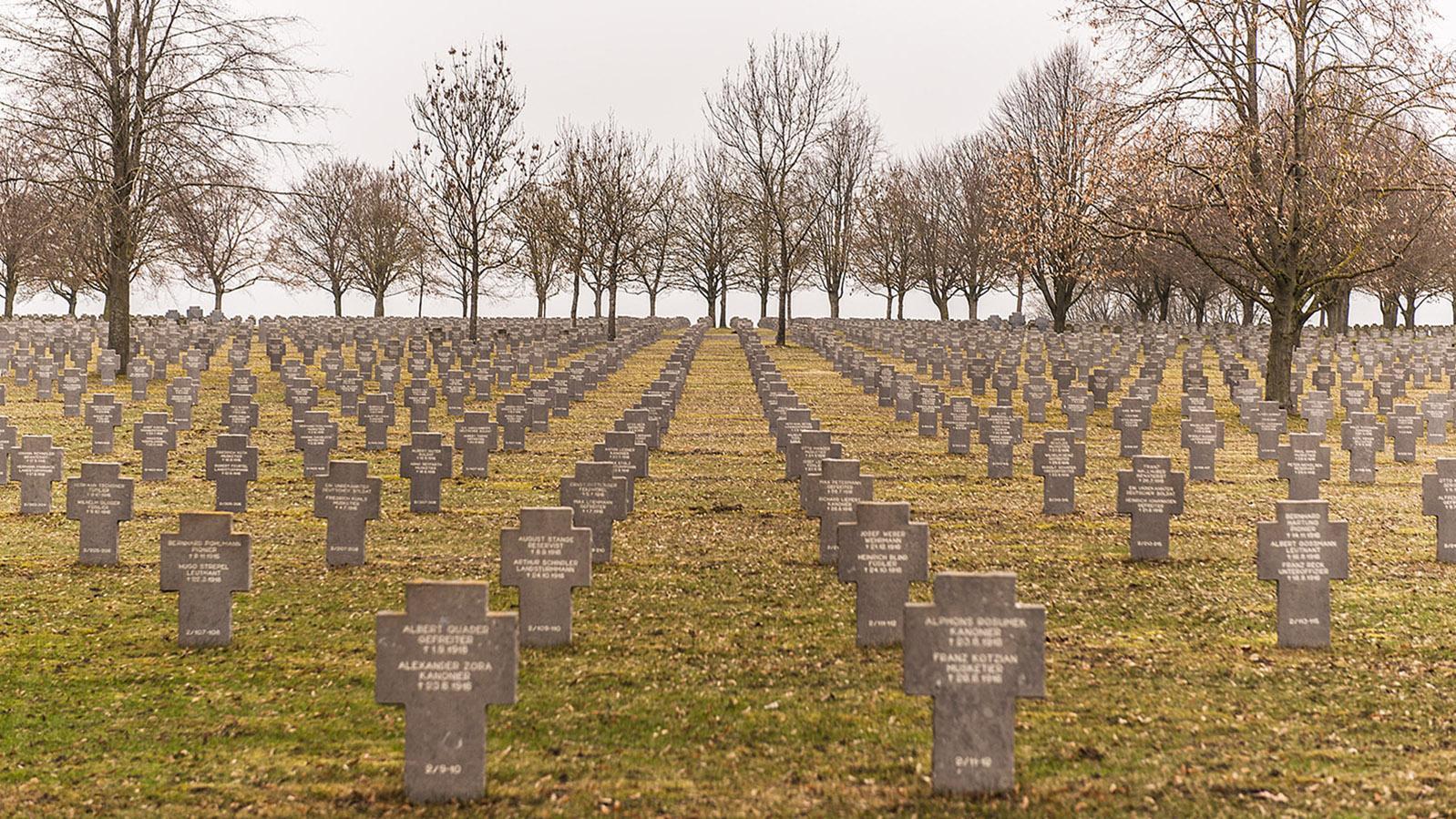 Der deutsche Soldatenfriedhof von Maissemy mit den Gefallenen des 1. Weltkrieges. Foto: Hilke Maunder