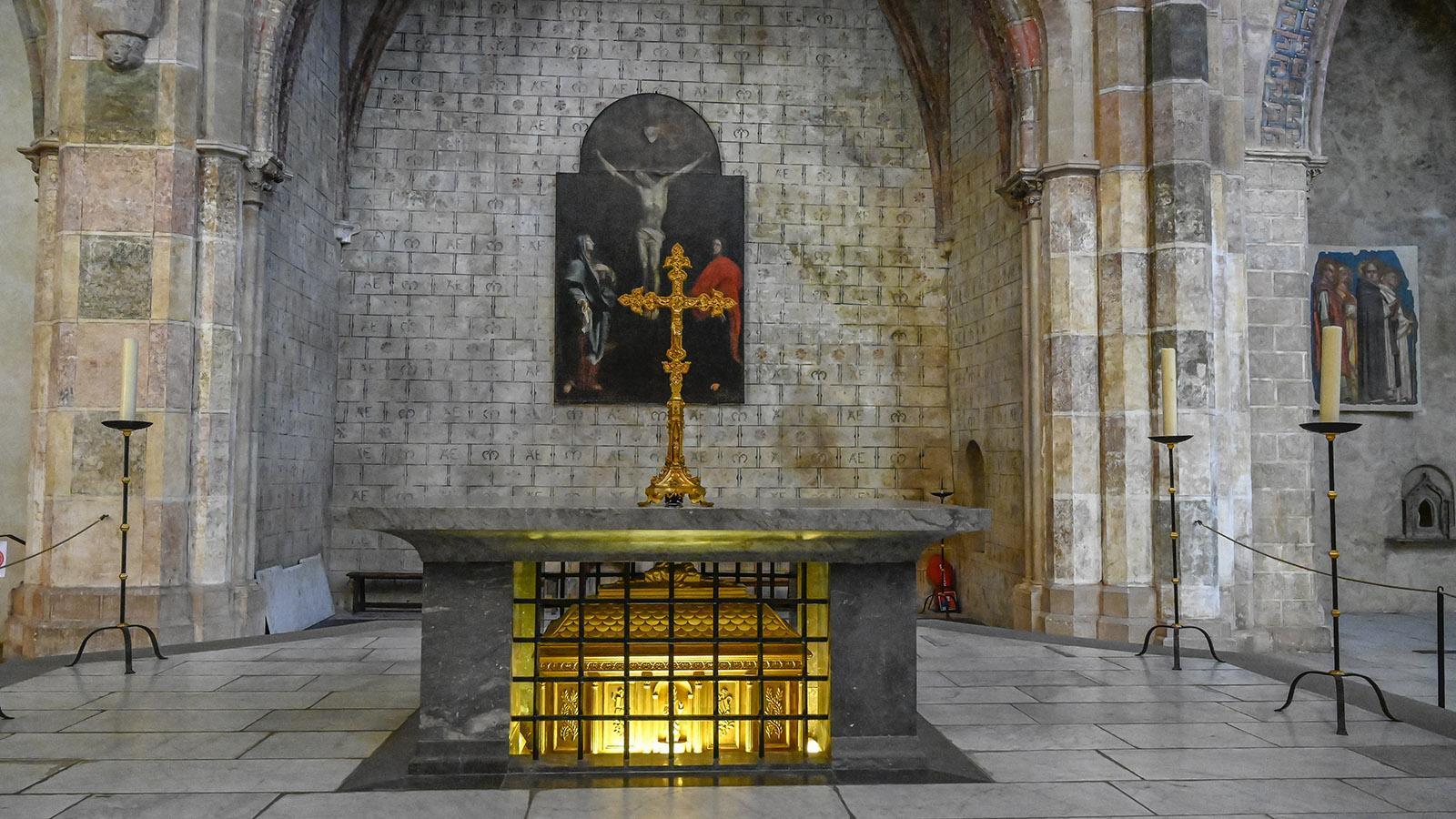 Toulouse: Das Grab von Thomas von Aquin im Jakobinerkonvent. Foto: Hilke Maunder