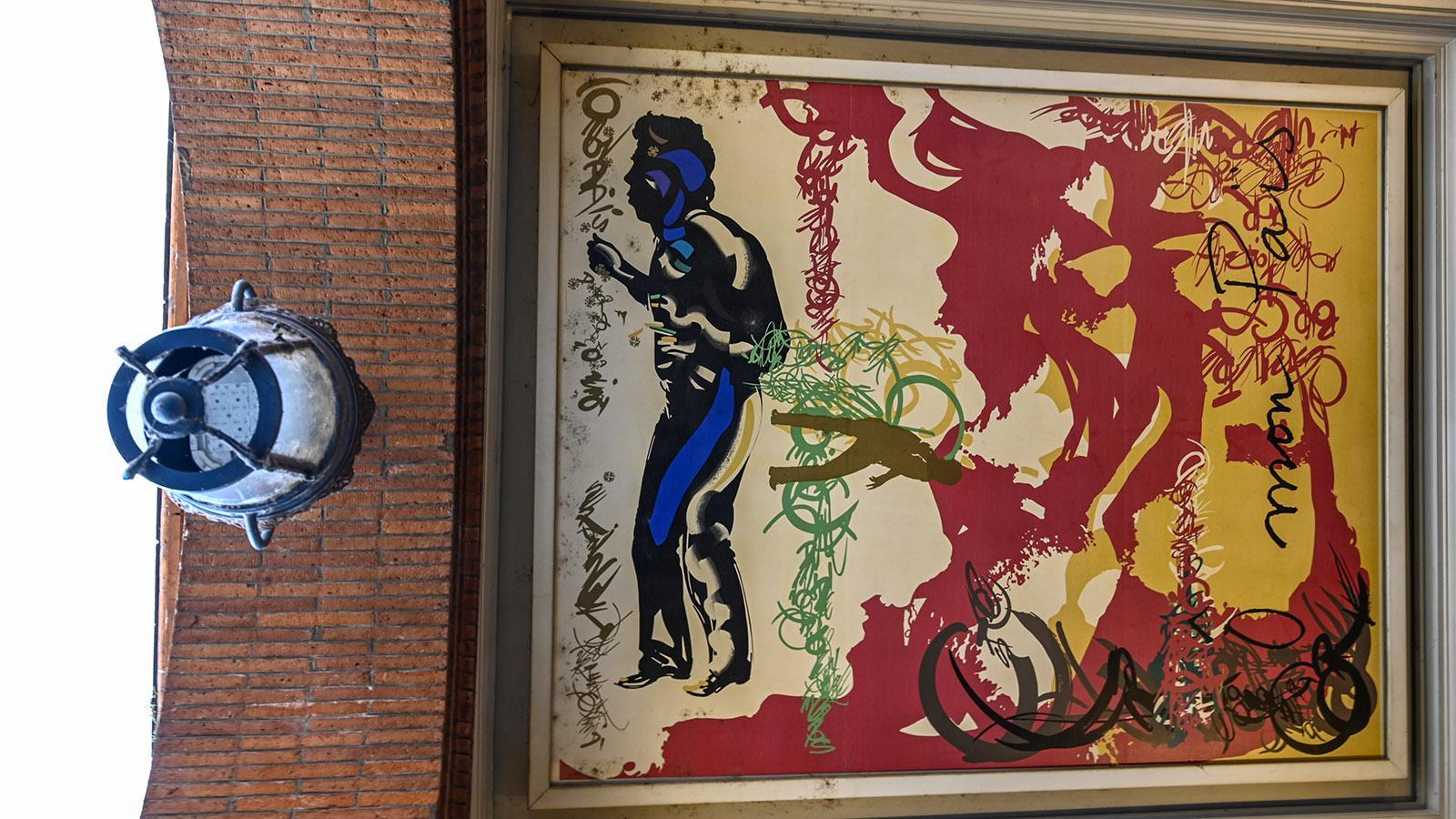 Toulouse: gemalte Stadtgeschichte - die Galerue. Foto: Hilke Maunder