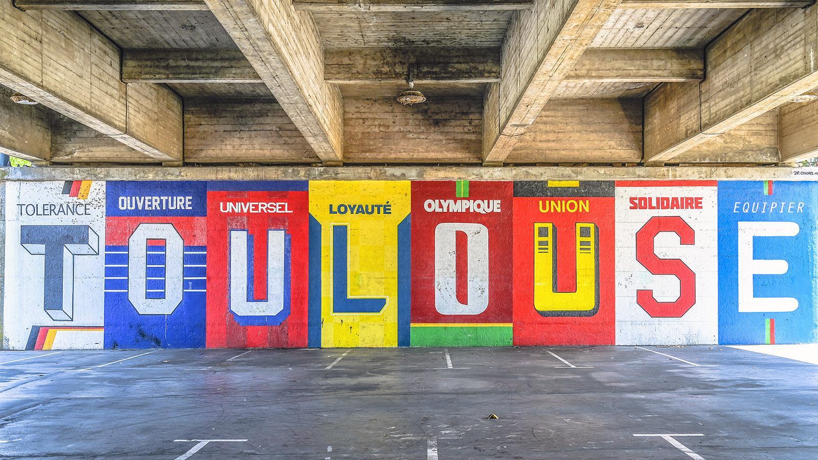 Street Art unter der Brücke - entdeckt auf der Île du Ramier. Foto: Hilke Maunder