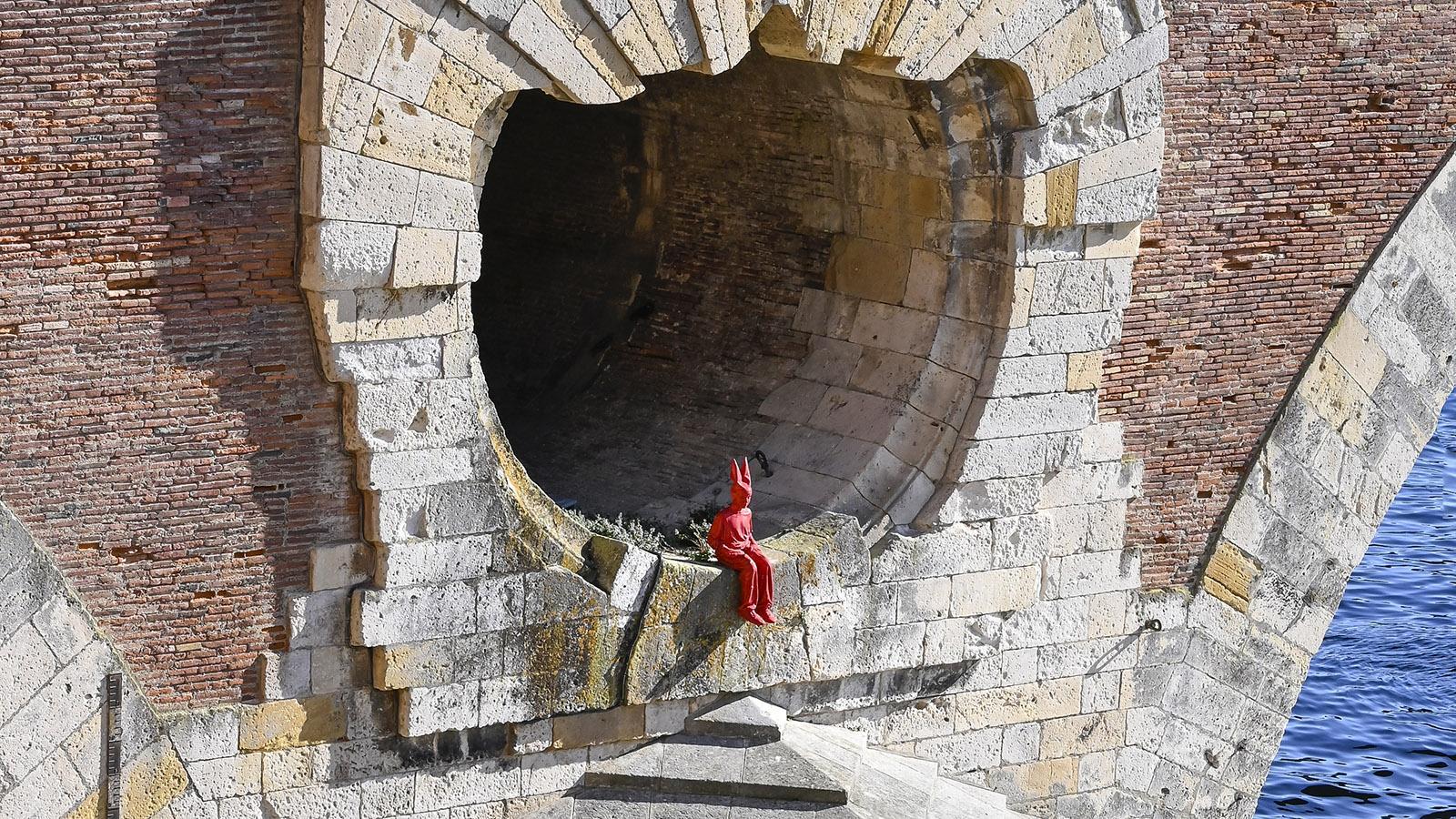 Toulouse: L'Enfant au bonnet d'âne an der Pont Neuf. Foto: Hilke Maunder