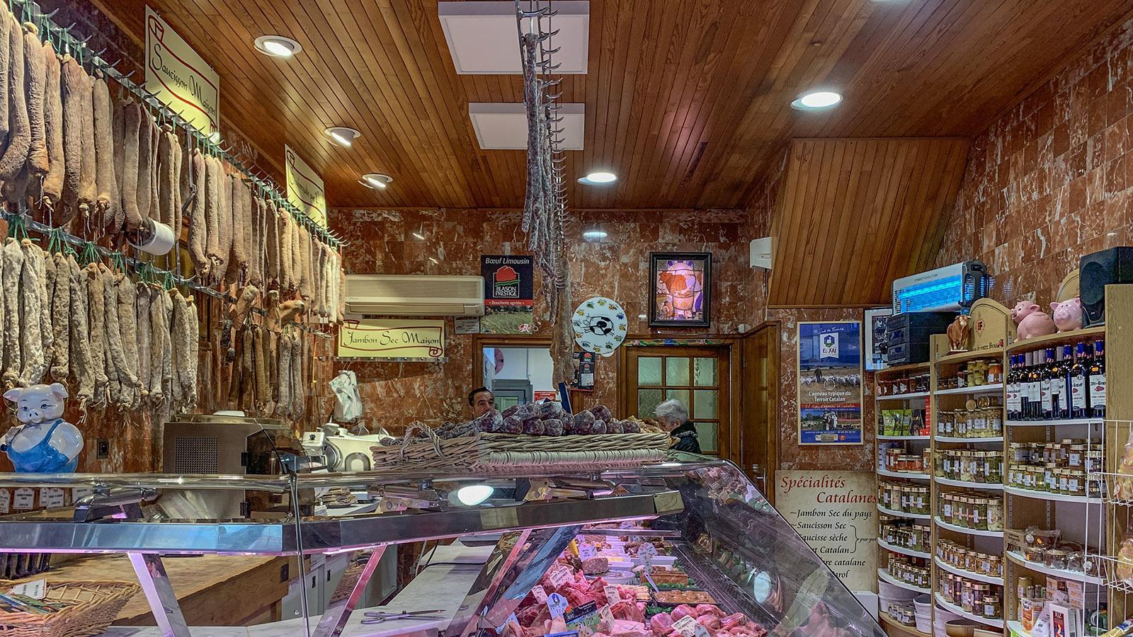 Wer Fleisch- und Wurstwaren liebt, kauft in Céret bei der Boucherie Molas. Foto: Hilke Maunder