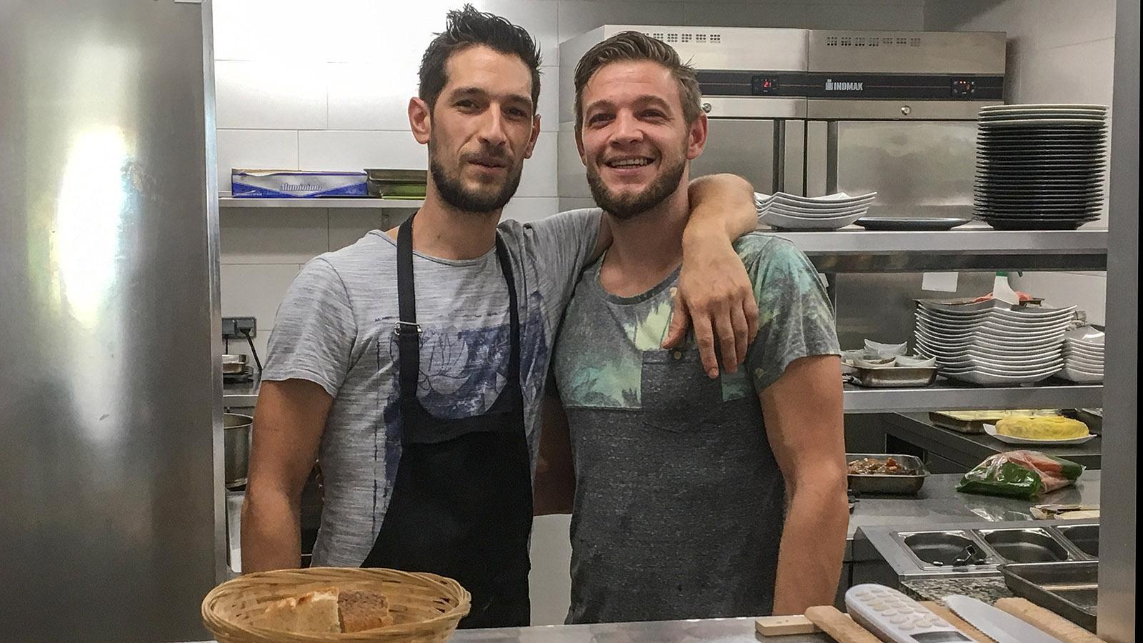 Die beiden Jungs von <em>La Galerie</em> rocken - Küche, Keller, Service und Ambiente stimmen! Foto: Hilke Maunder