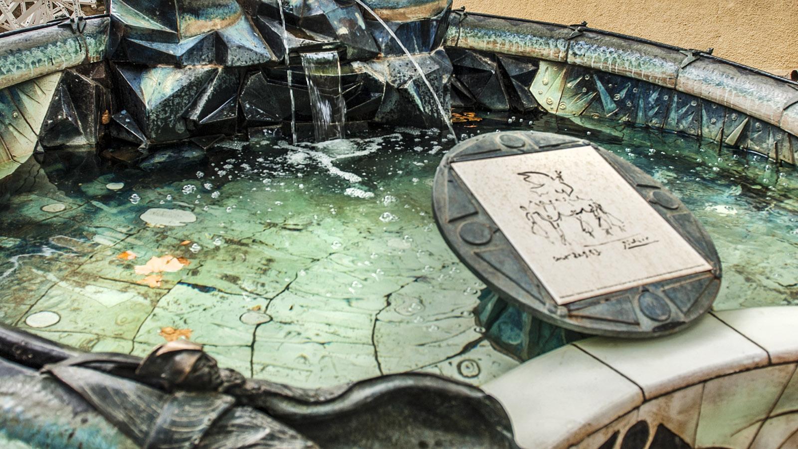 Céret: der Picasso-Brunnen. Foto: Hilke Maunder