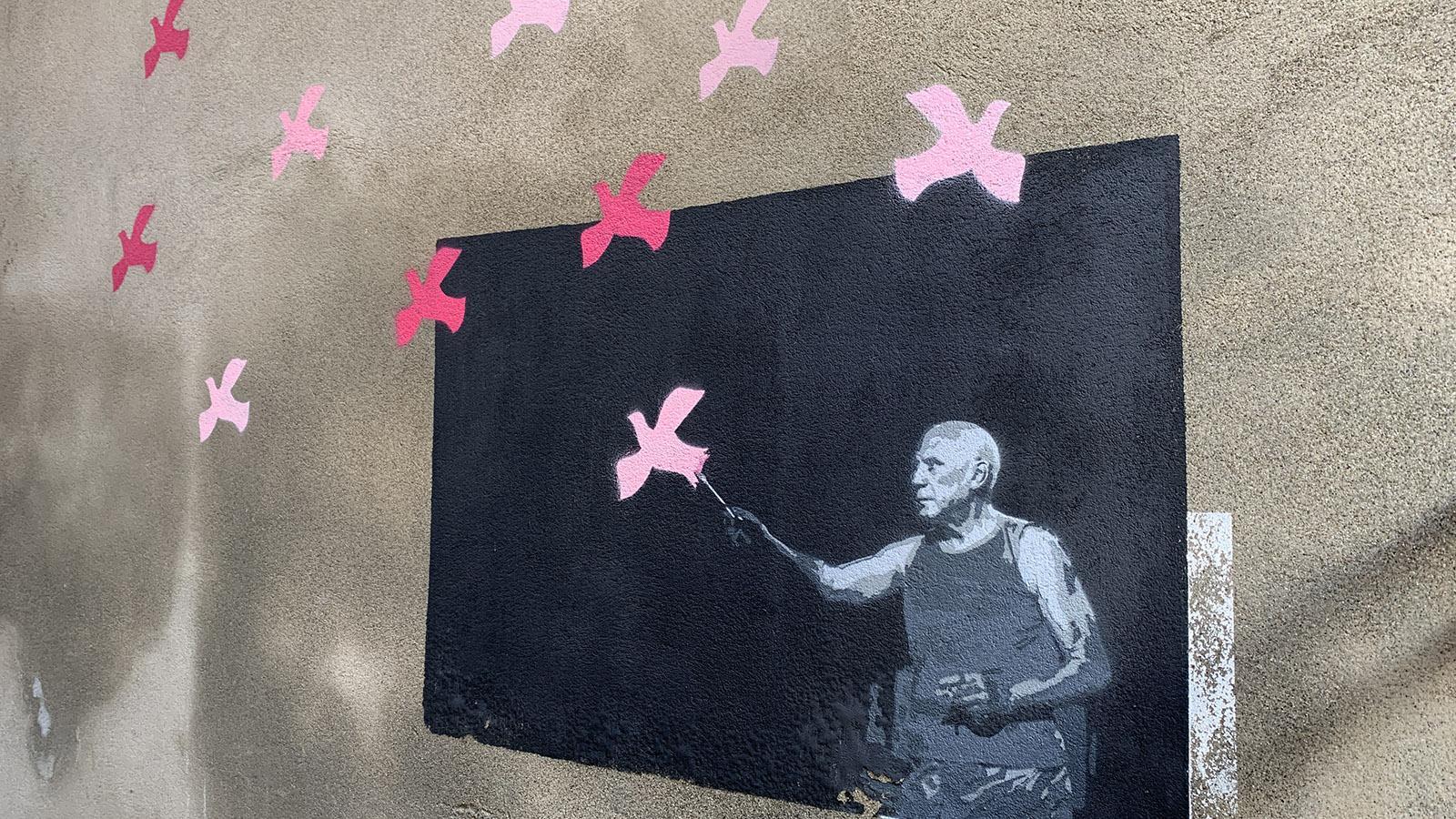 Céret: Street Art mit Picasso. Foto: Hilke Maunder