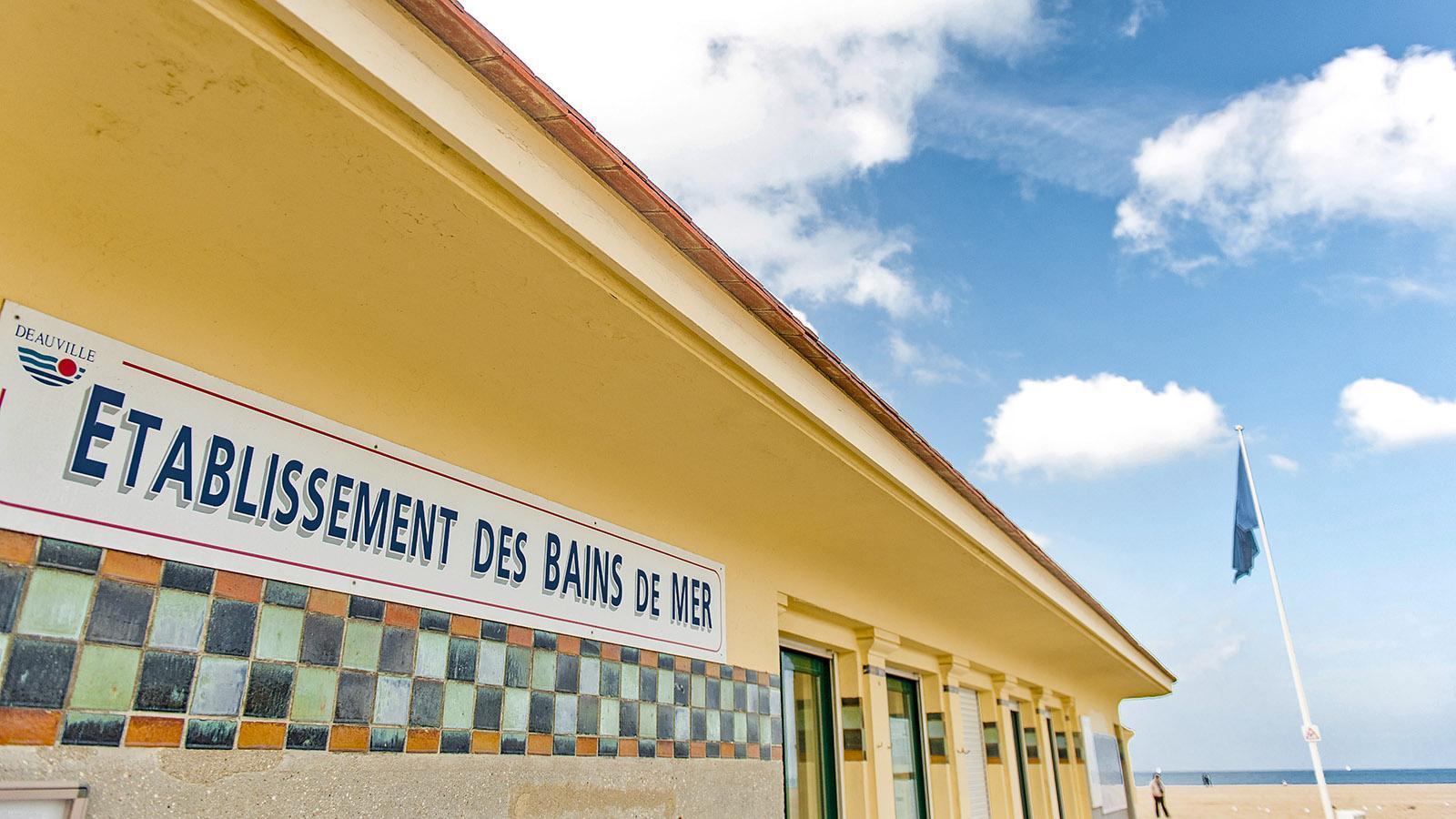 Côtes Fleurie: Das Meeresbad von Deauville. Foto: Hilke Maunder