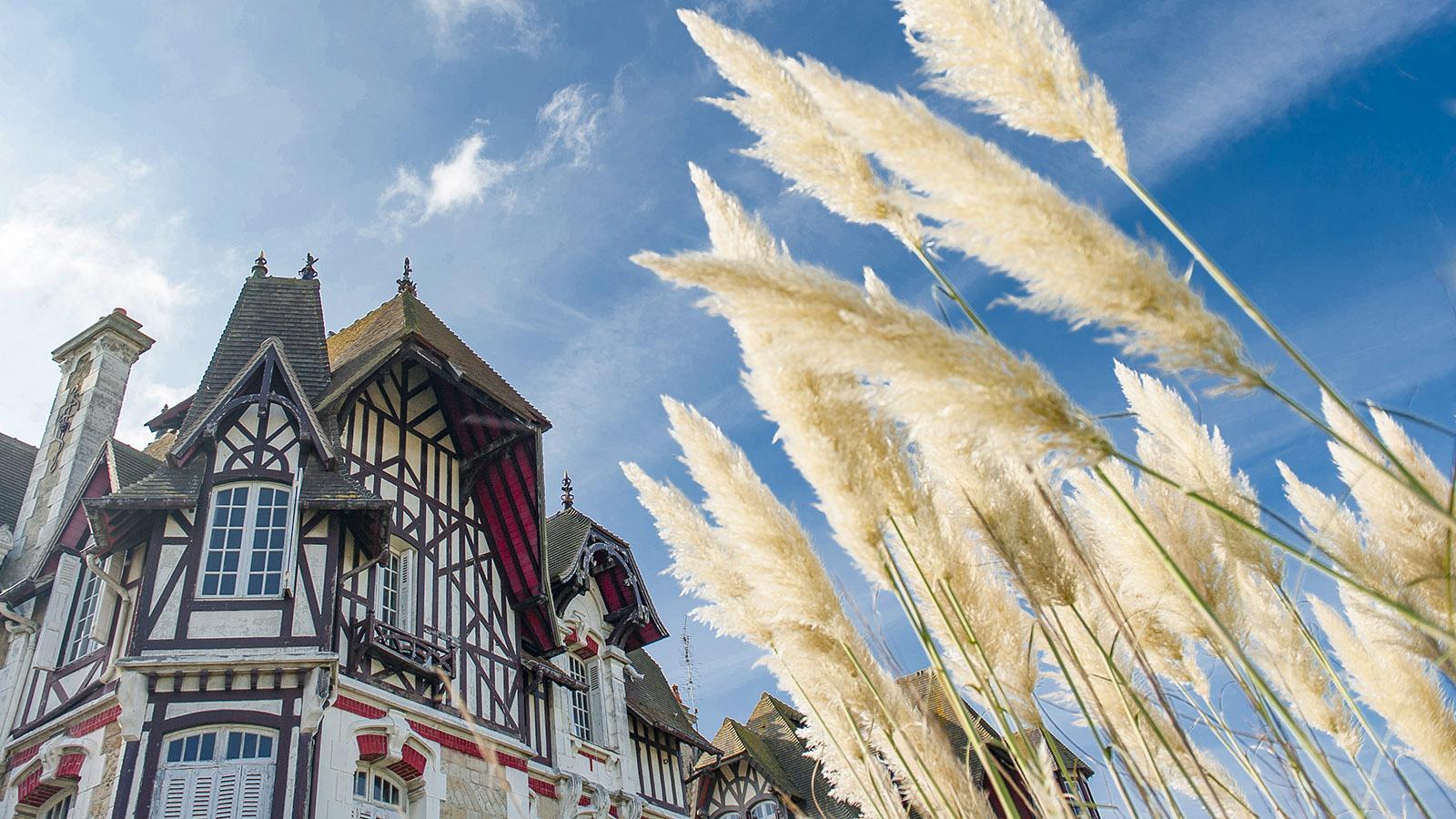 Côte Fleurie: Nostalgisch: eine Sommervilla im normannischen Stil in Deauville - nur einen Steinwurf entfernt vom großen Strand. Foto: Hilke Maunder