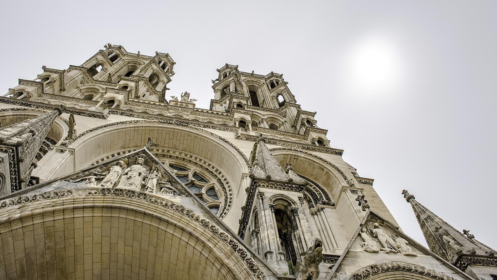 Detail der Fassade der Kathedrale von Laon. Foto: Hilke Maunder