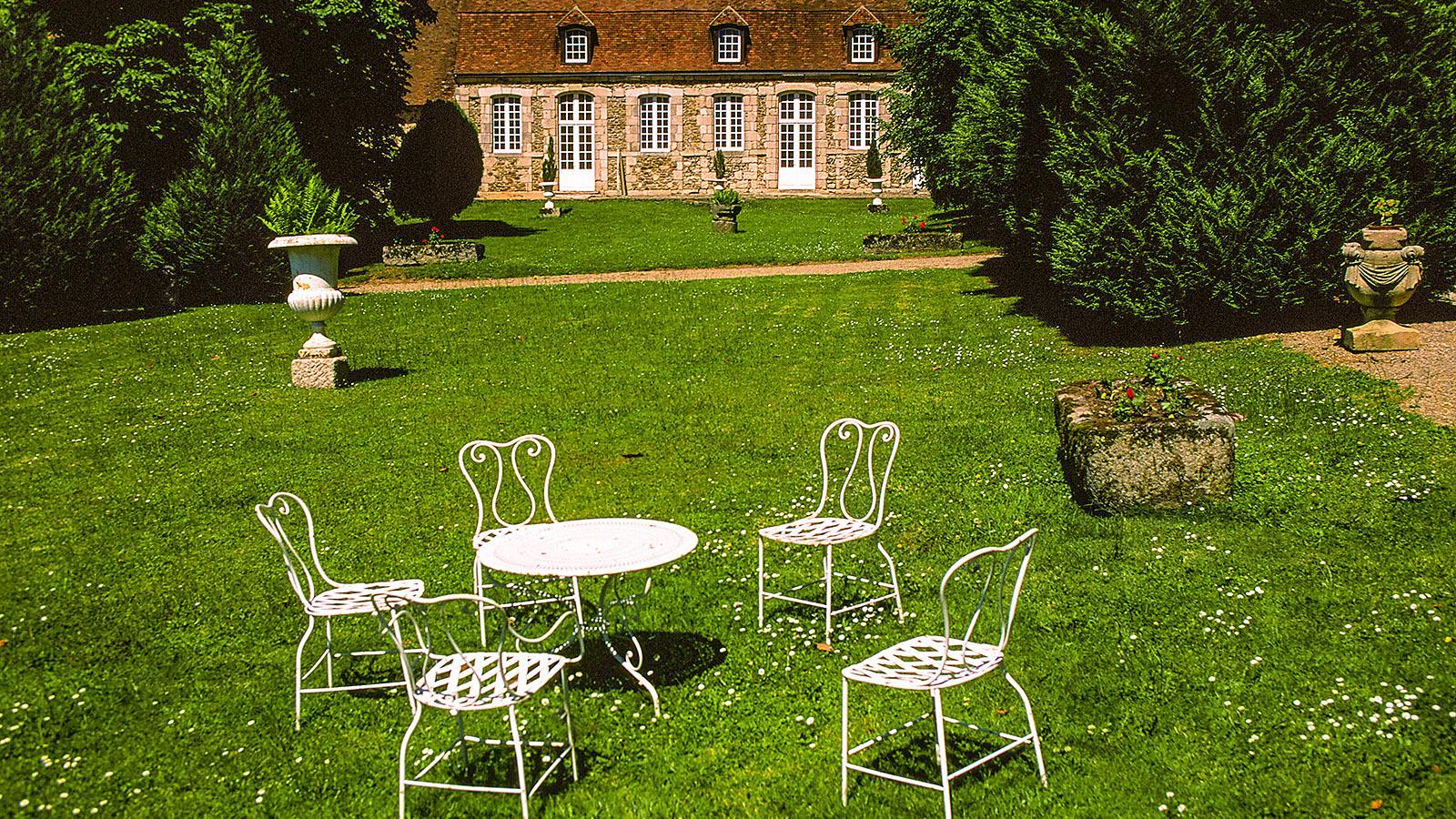Limousin: Im Garten des Château de Boussac. Foto: Hilke Maunder