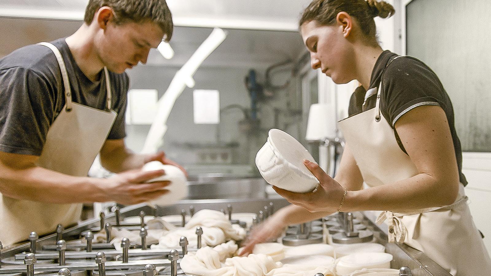 Handwerkliche Reblochon-Herstellung.Foto: Hilke Maunder