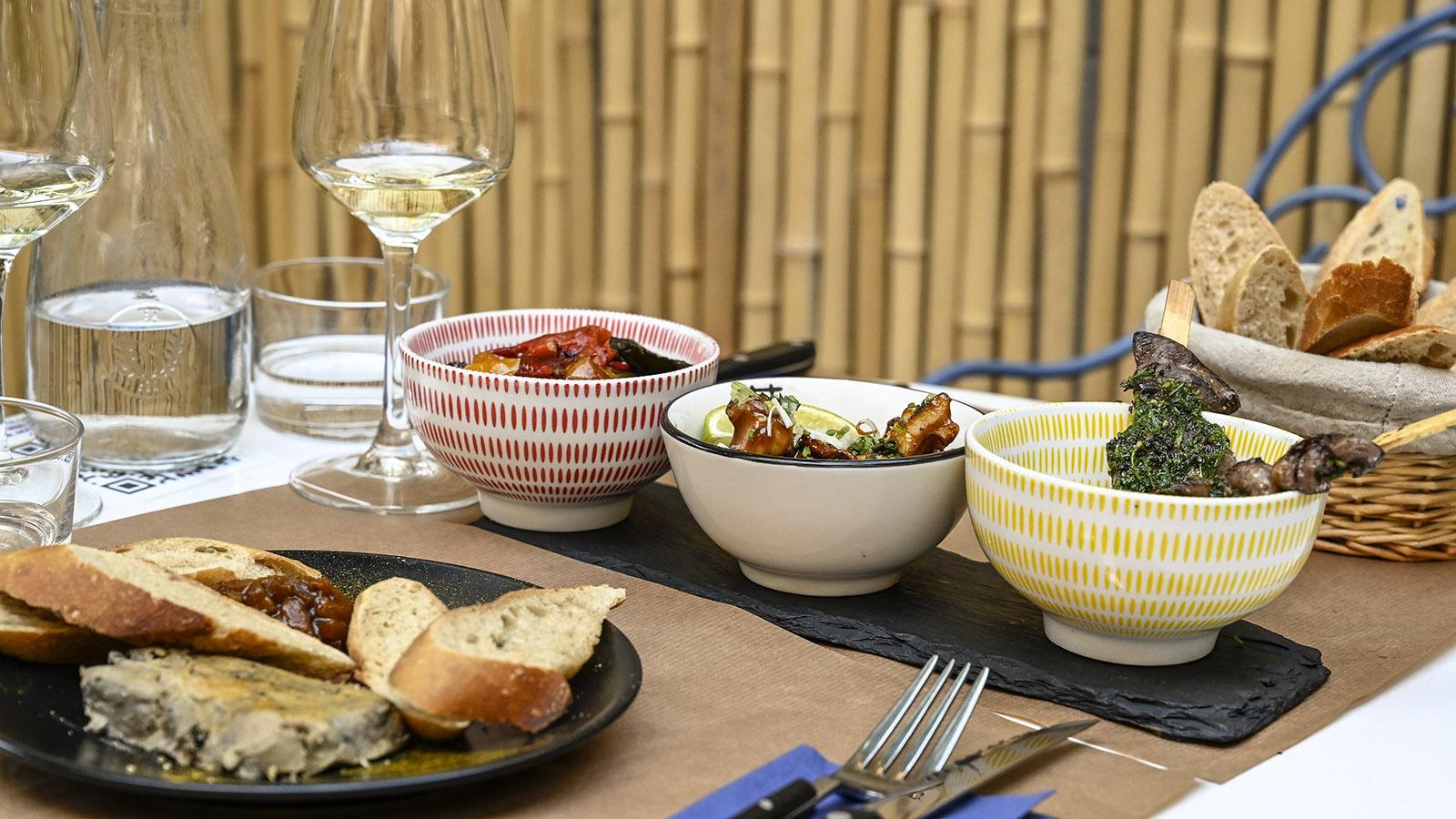 Toulouse: Lust auf Tapas? Le Carthal serviert mediterrane Häppchen, die mit Asiens Aromen flirten. Foto: Hilke Maunder