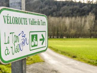 Die Radroute im Tarn-Tal. Foto: Hilke Maunder